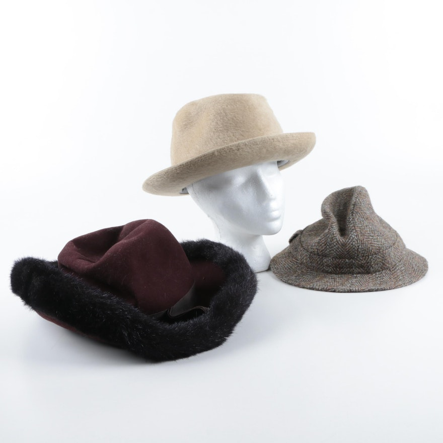 989c7fdccc5 Men s Beaver Felt and Wool Hats Including Harris Tweed   EBTH