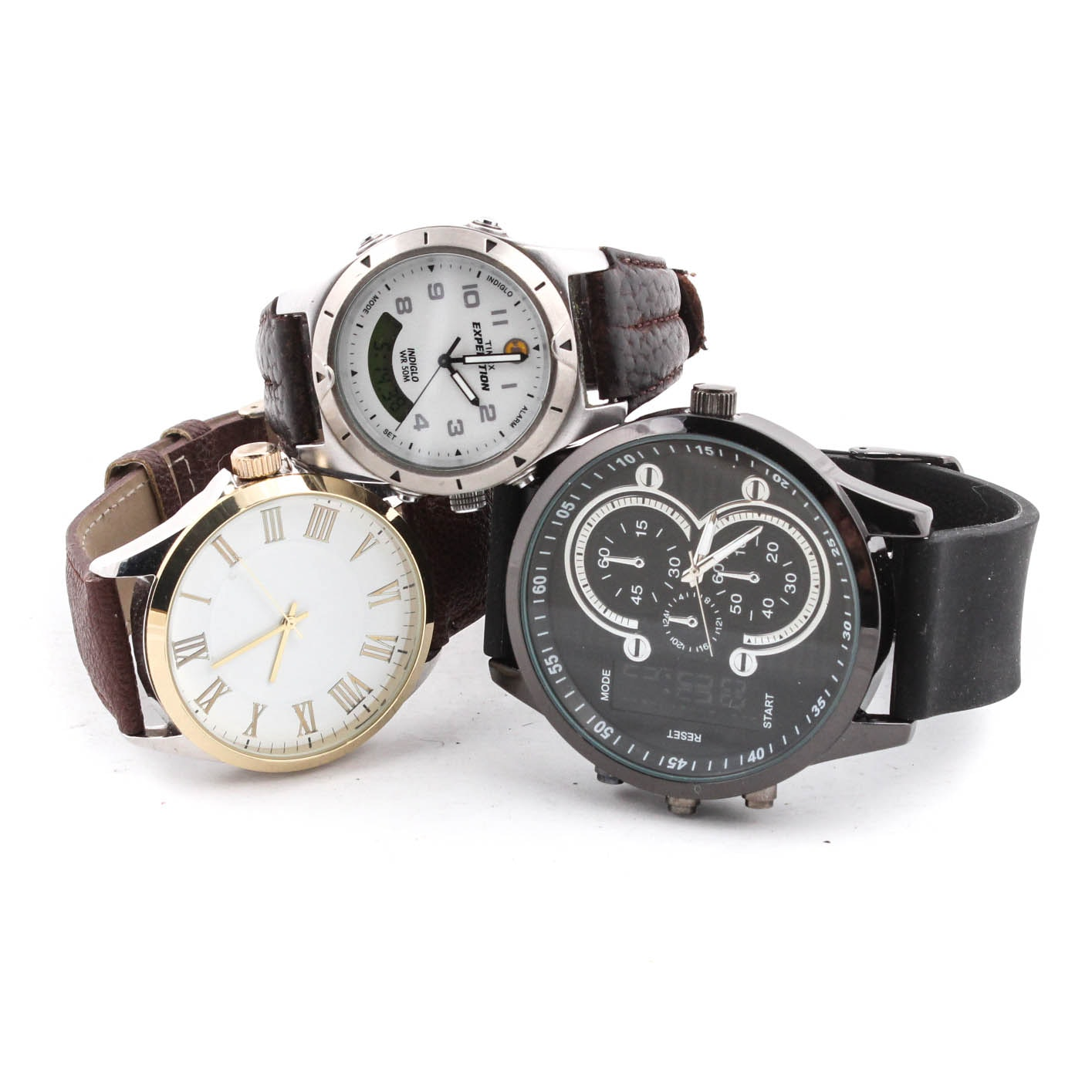 Wristwatches with Timex and FMD