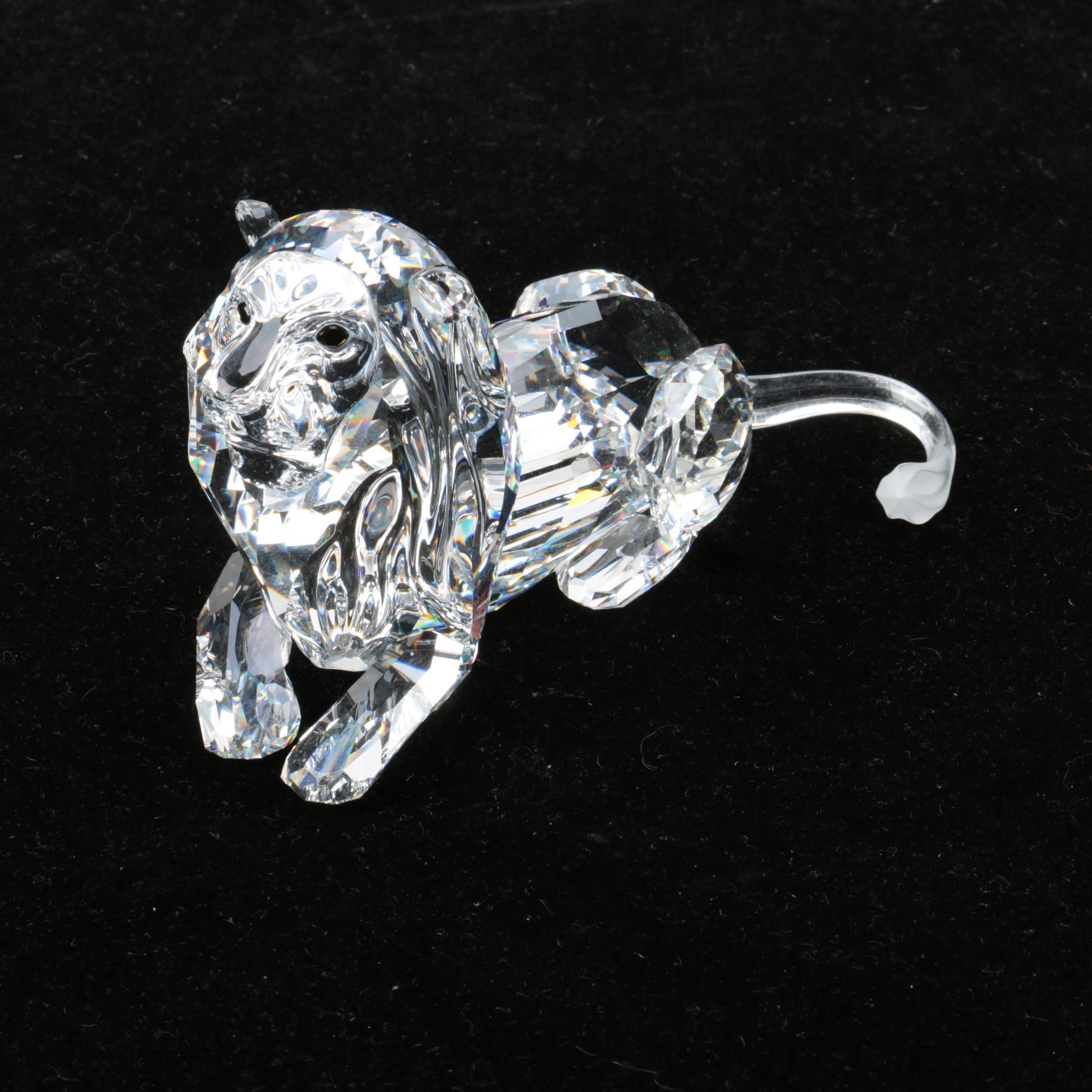 "Swarovski Crystal Annual Edition 1995 ""Inspiration Africa-the Lion"" Figurine"