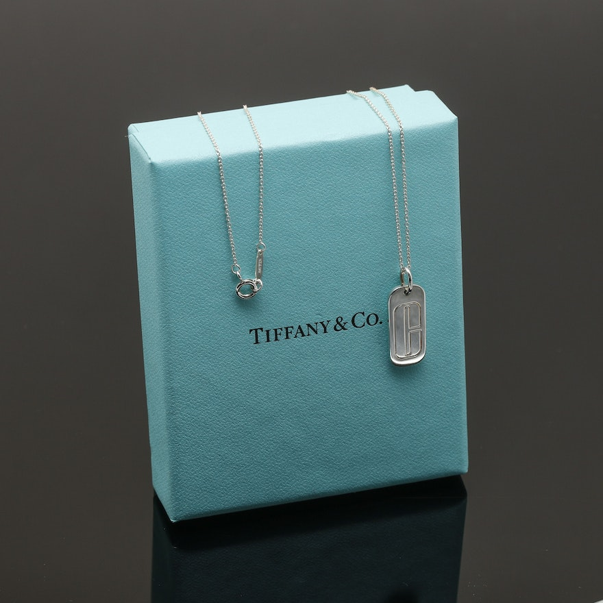 Tiffany co for clinique sterling silver pendant necklace ebth tiffany co for clinique sterling silver pendant necklace aloadofball Gallery