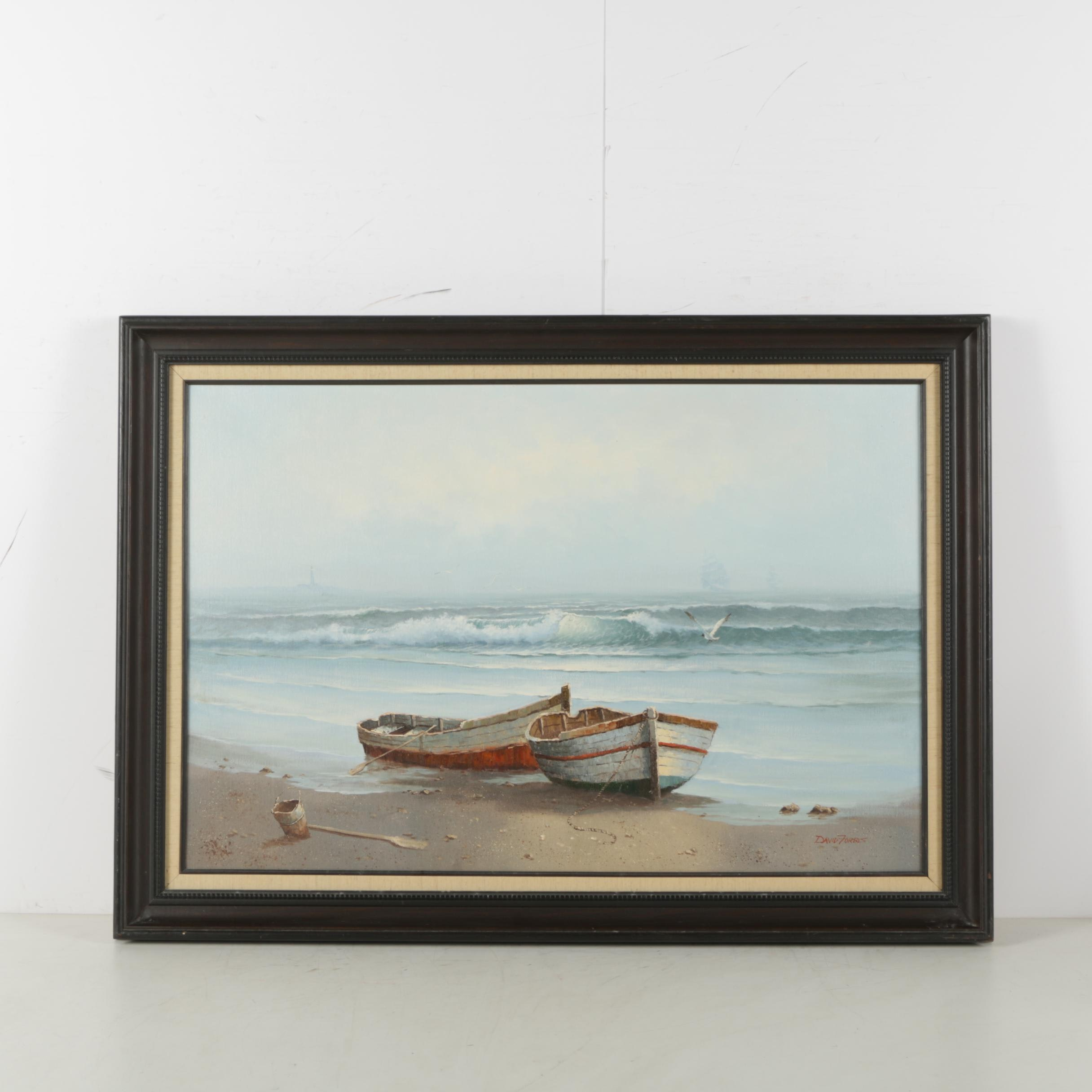 David Forbis Oil Painting of Coastal Scene