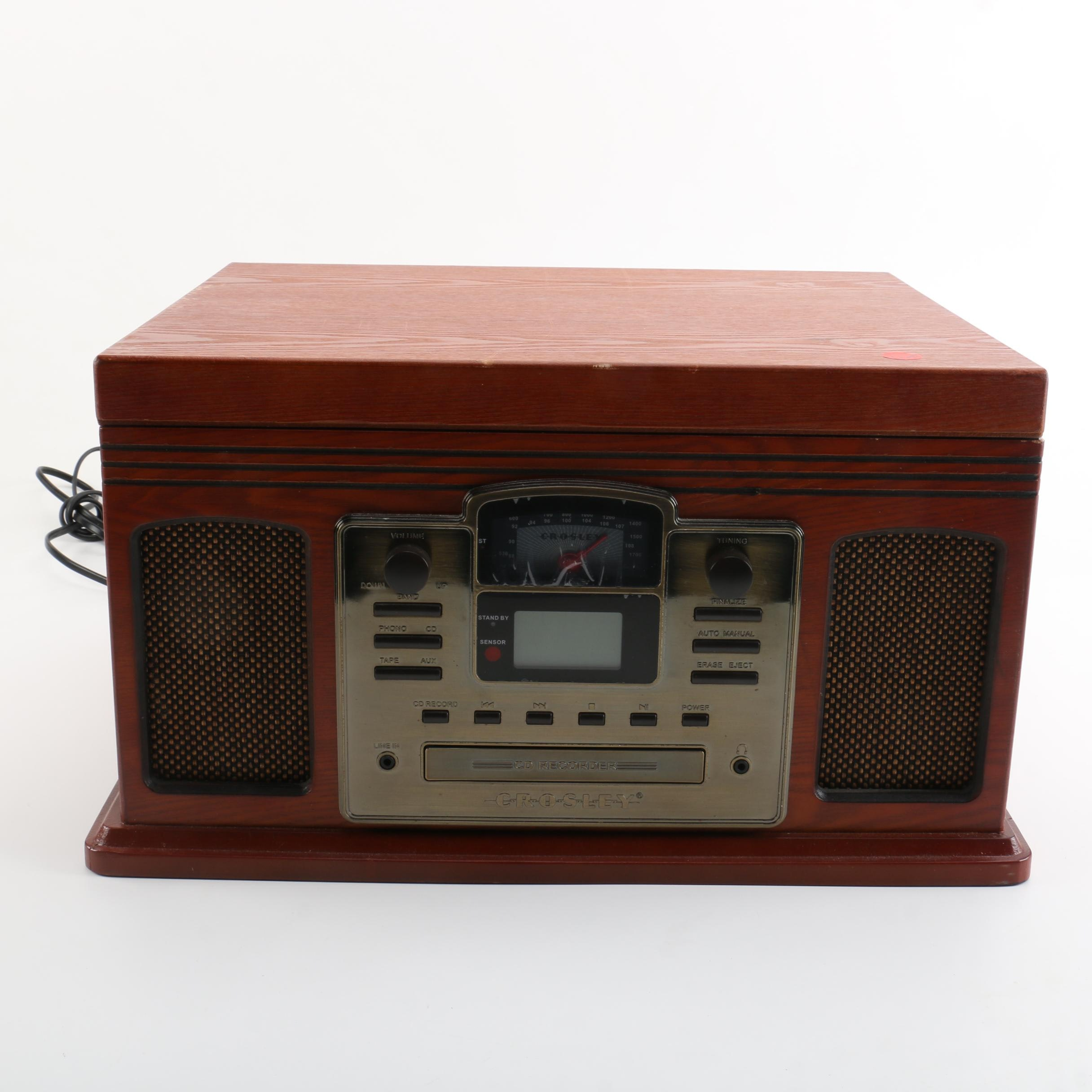 Crosley CD Recorder Turntable and Cassette Player