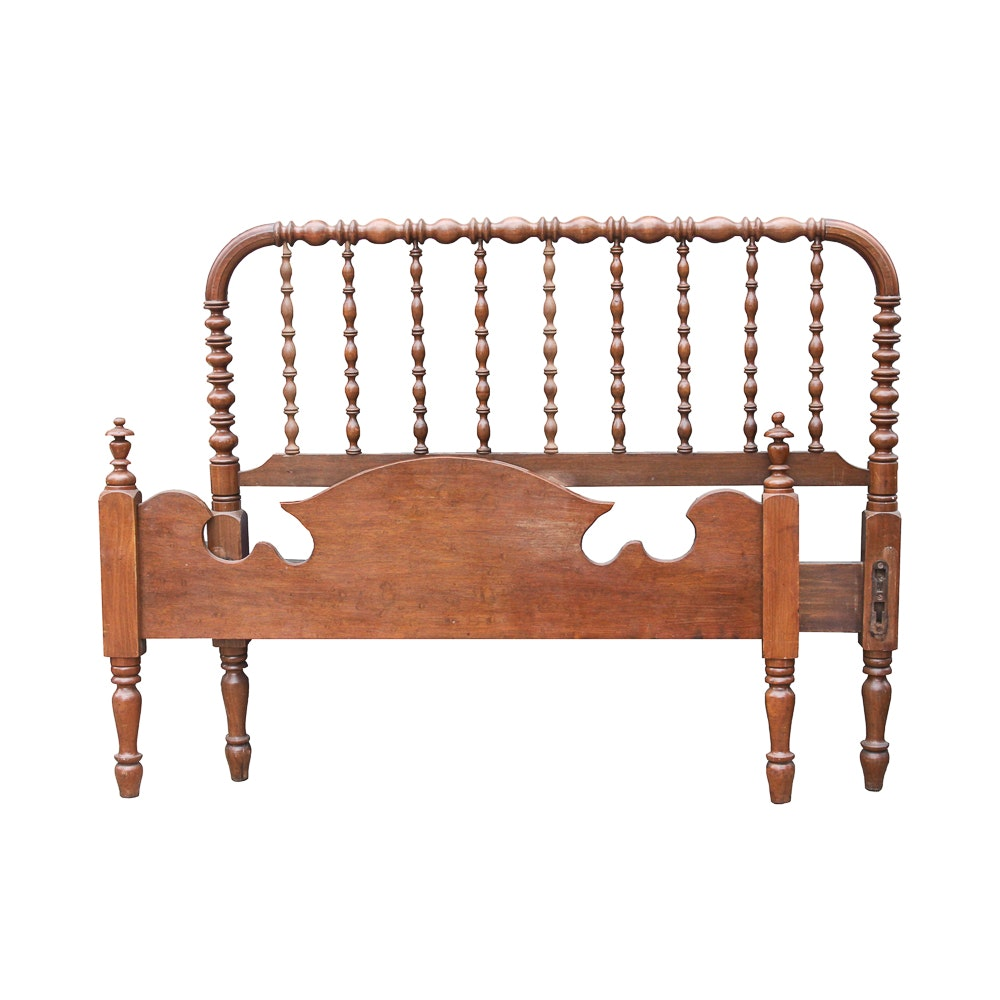 Antique Victorian Spool-Turned Full Size Bed Frame