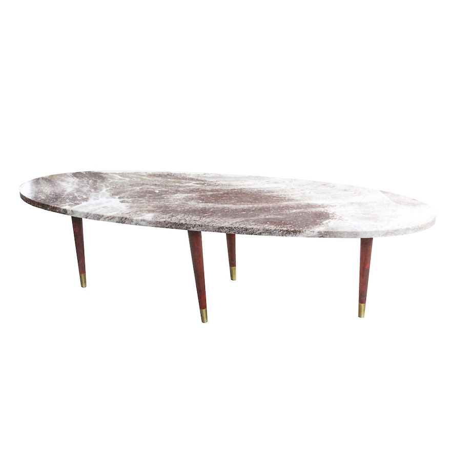 Peachy Mid Century Modern Stone Top Coffee Table Ncnpc Chair Design For Home Ncnpcorg
