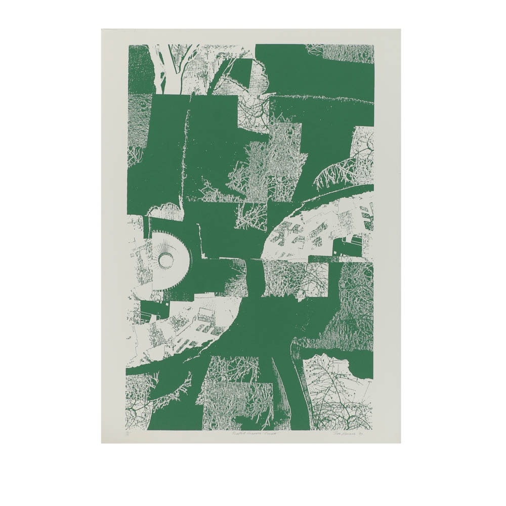 """Don Werner Limited Edition Serigraph on Paper """"Frosted Grasses-Green"""""""