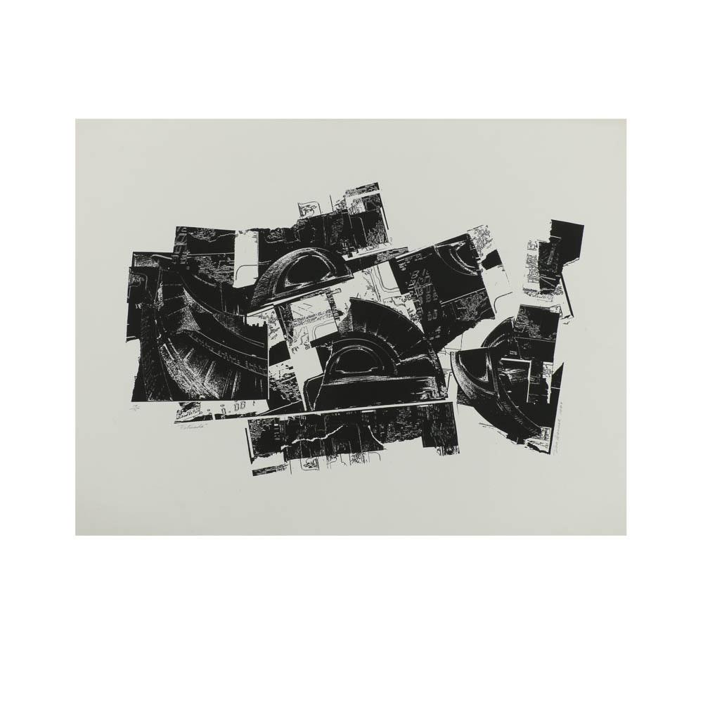 """Don Werner Serigraph """"Rotunda"""""""