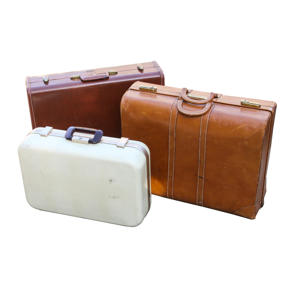Vintage Suitcases Including Samsonite and Whyte
