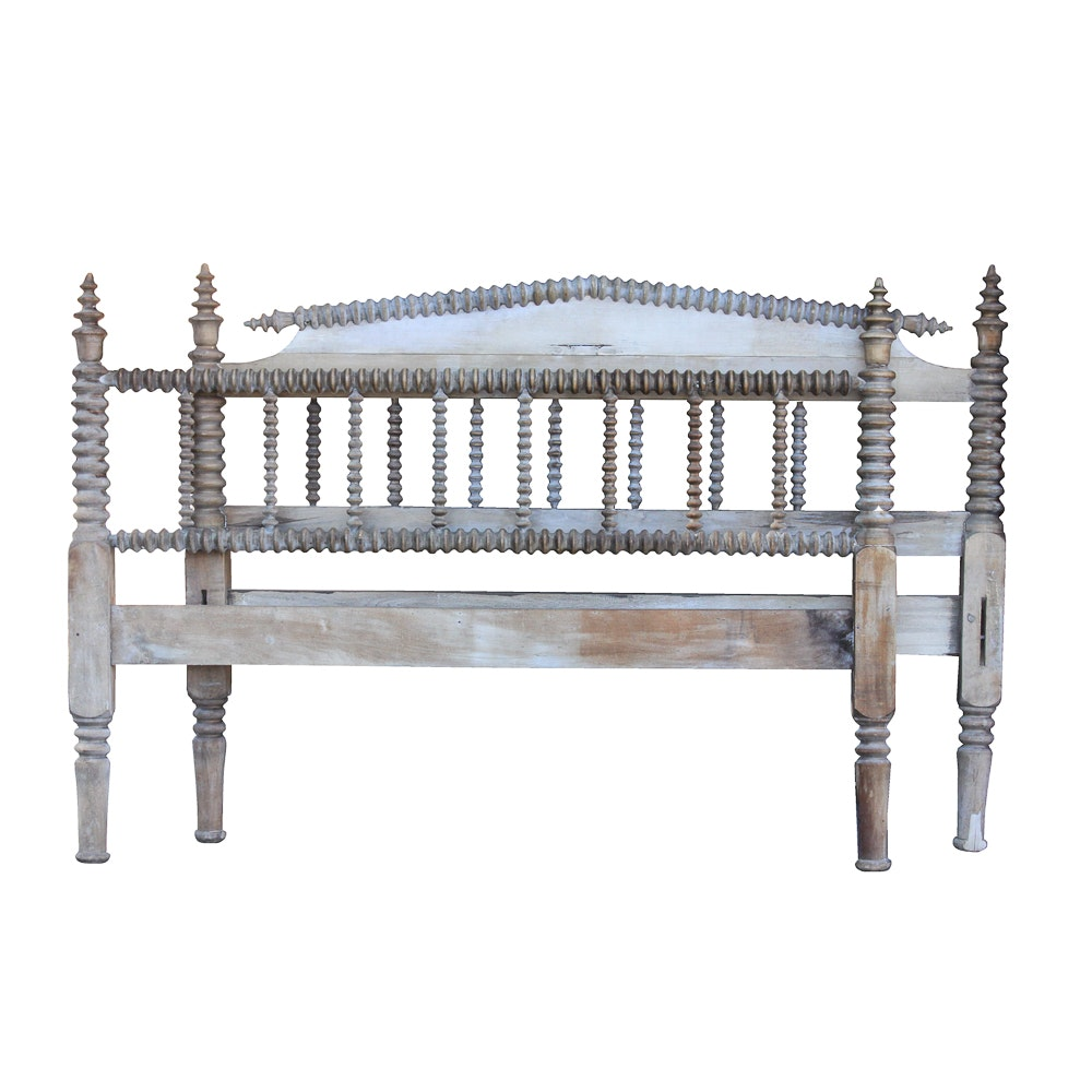 Vintage Jenny Lind Style Full Size  Headboard and Footboard