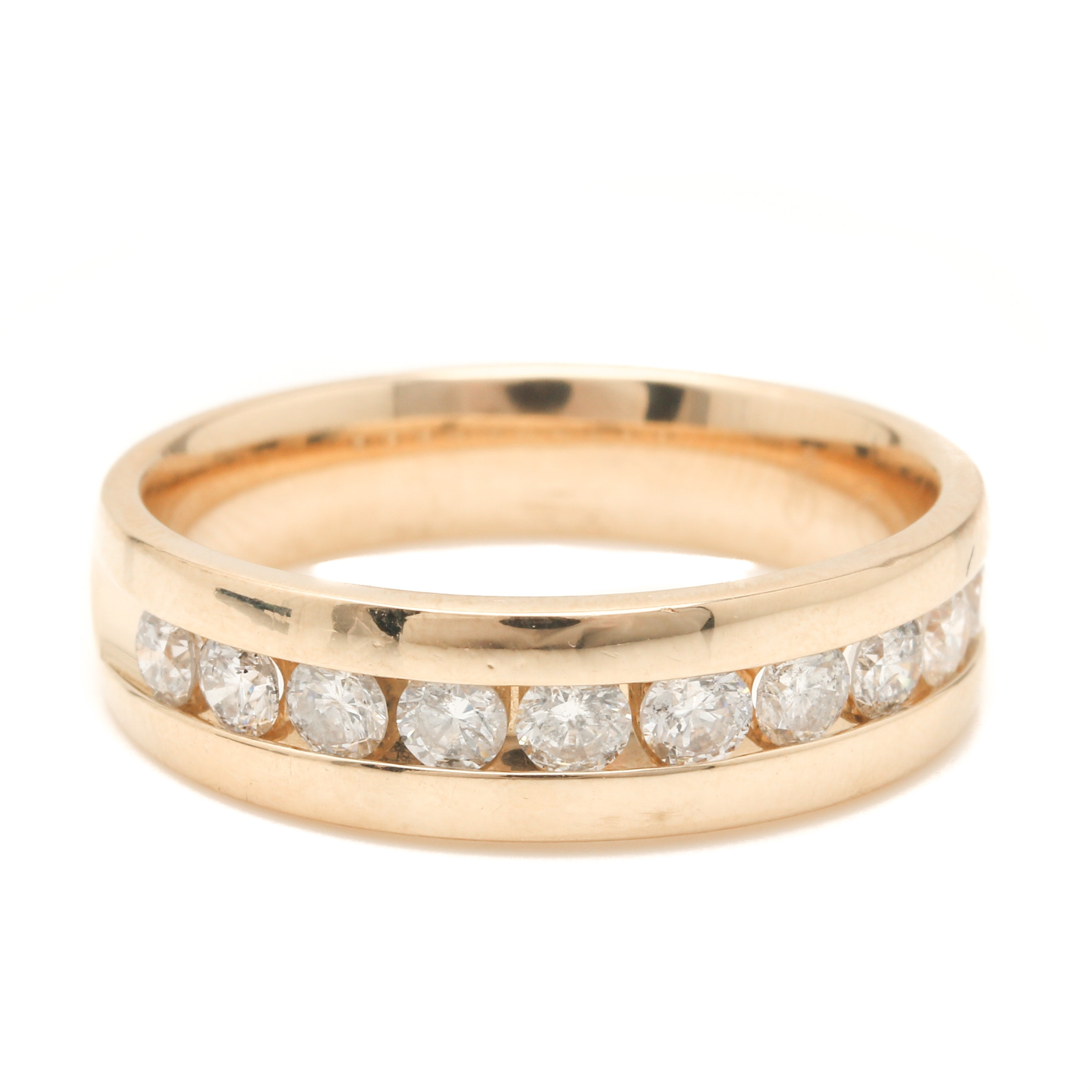 14K Yellow Gold Diamond Ring Band
