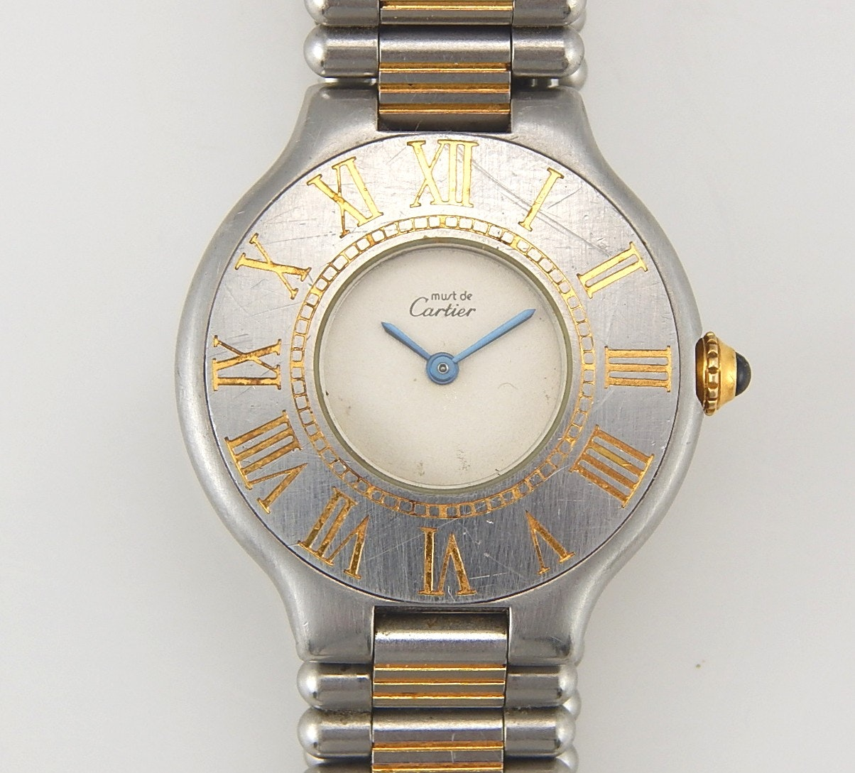 Must de Cartier Two-Tone Stainless Steel Wristwatch
