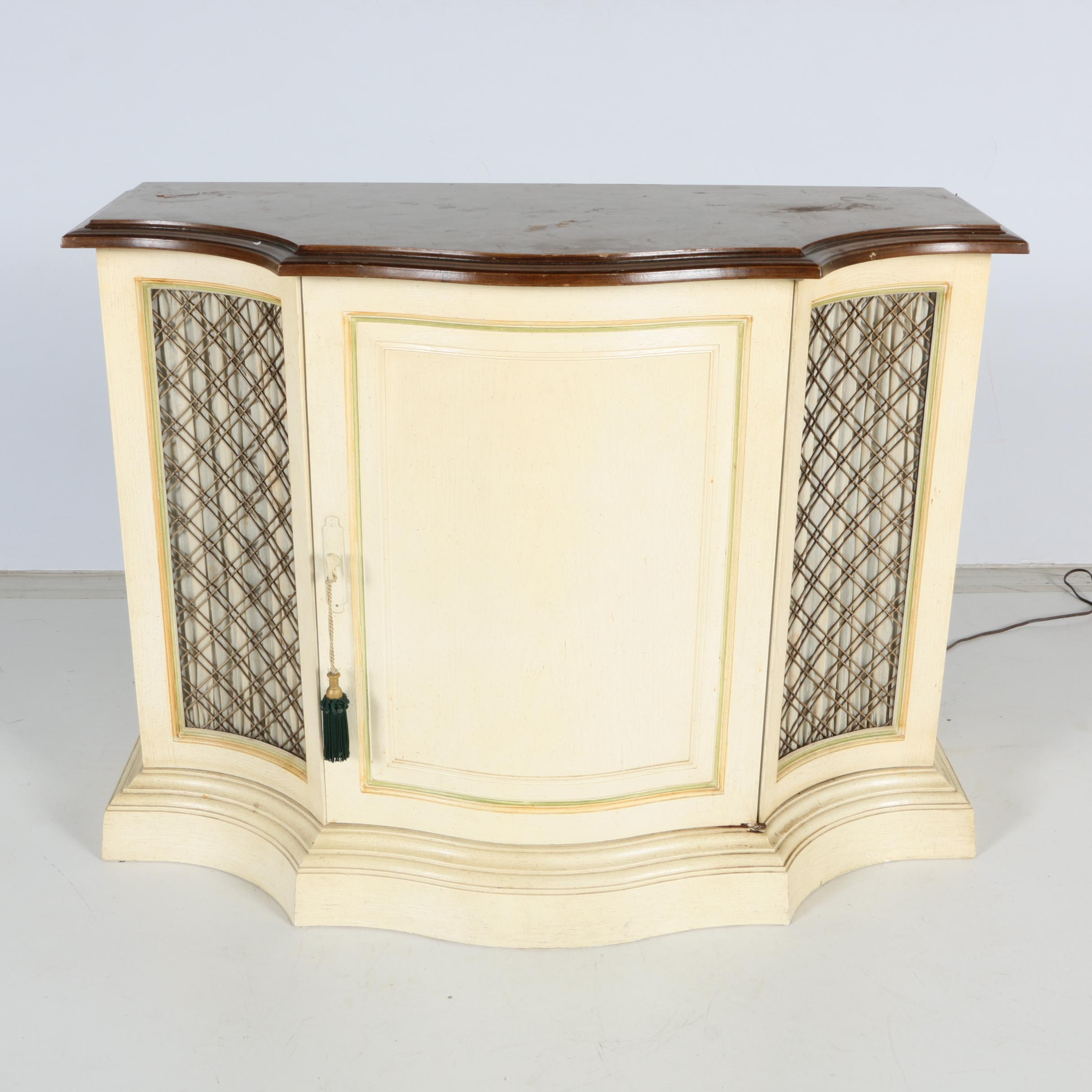 Vintage French Provincial Style Entertainment Cabinet