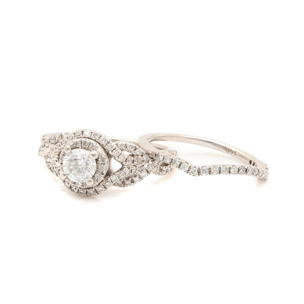 14K White Gold 1.37 CTW Diamond Ring Selection