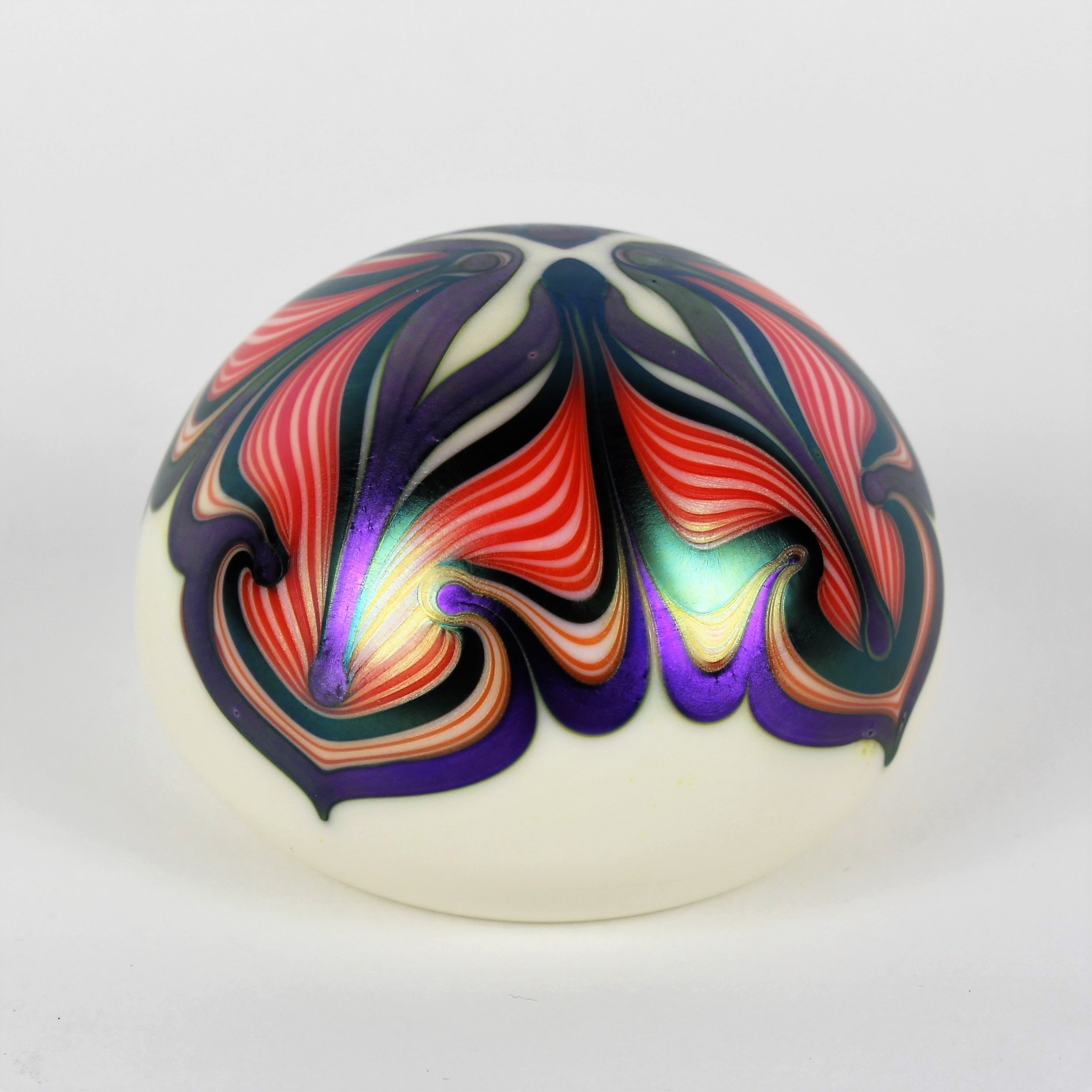 Orient & Flume Patterned Art Glass Paperweight