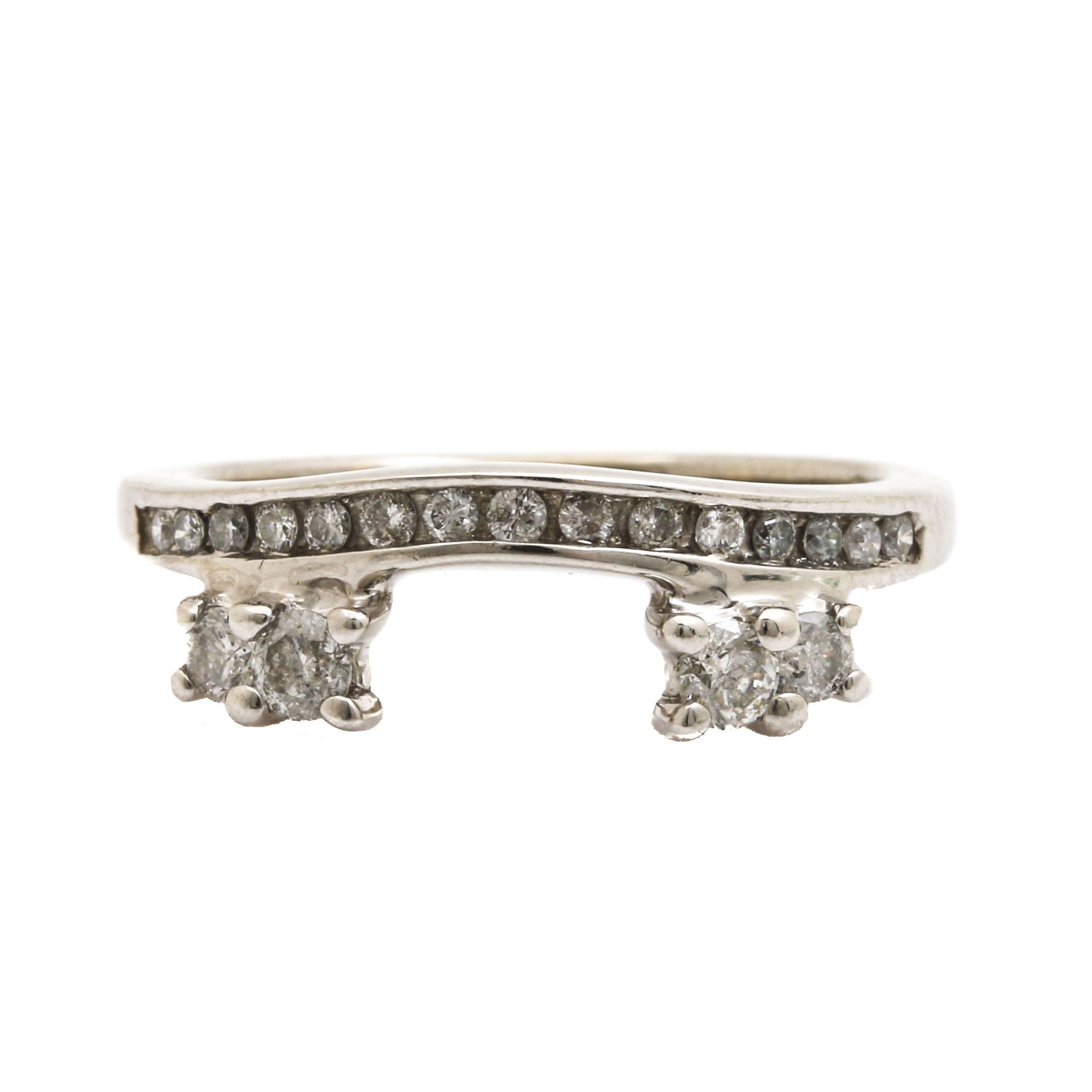 14K White Gold Diamond Enhancer Ring