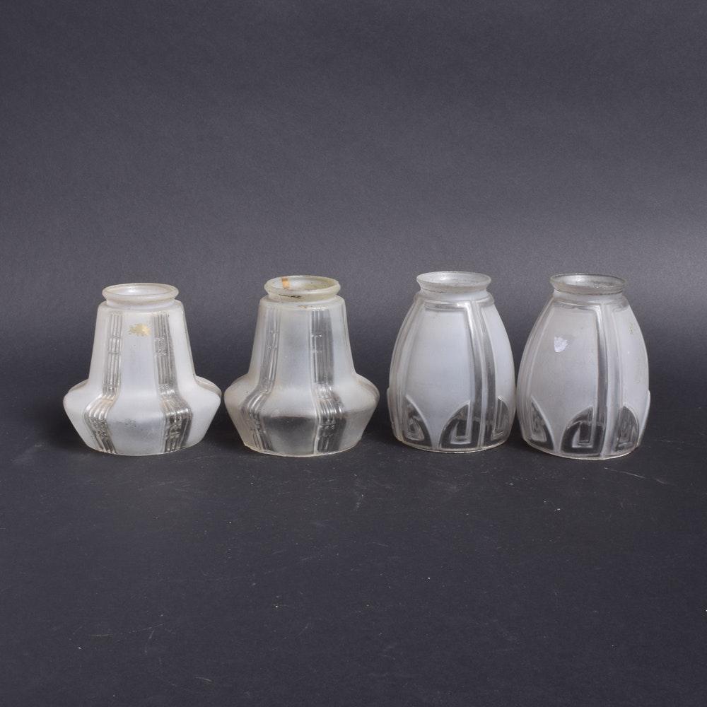 Vintage Art Deco Style Glass Light Shades