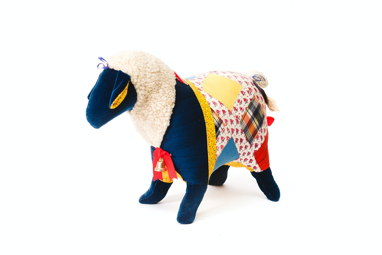 "Linda A. Haderer Folk Art Soft Sculpture ""Pippin Ewe"""