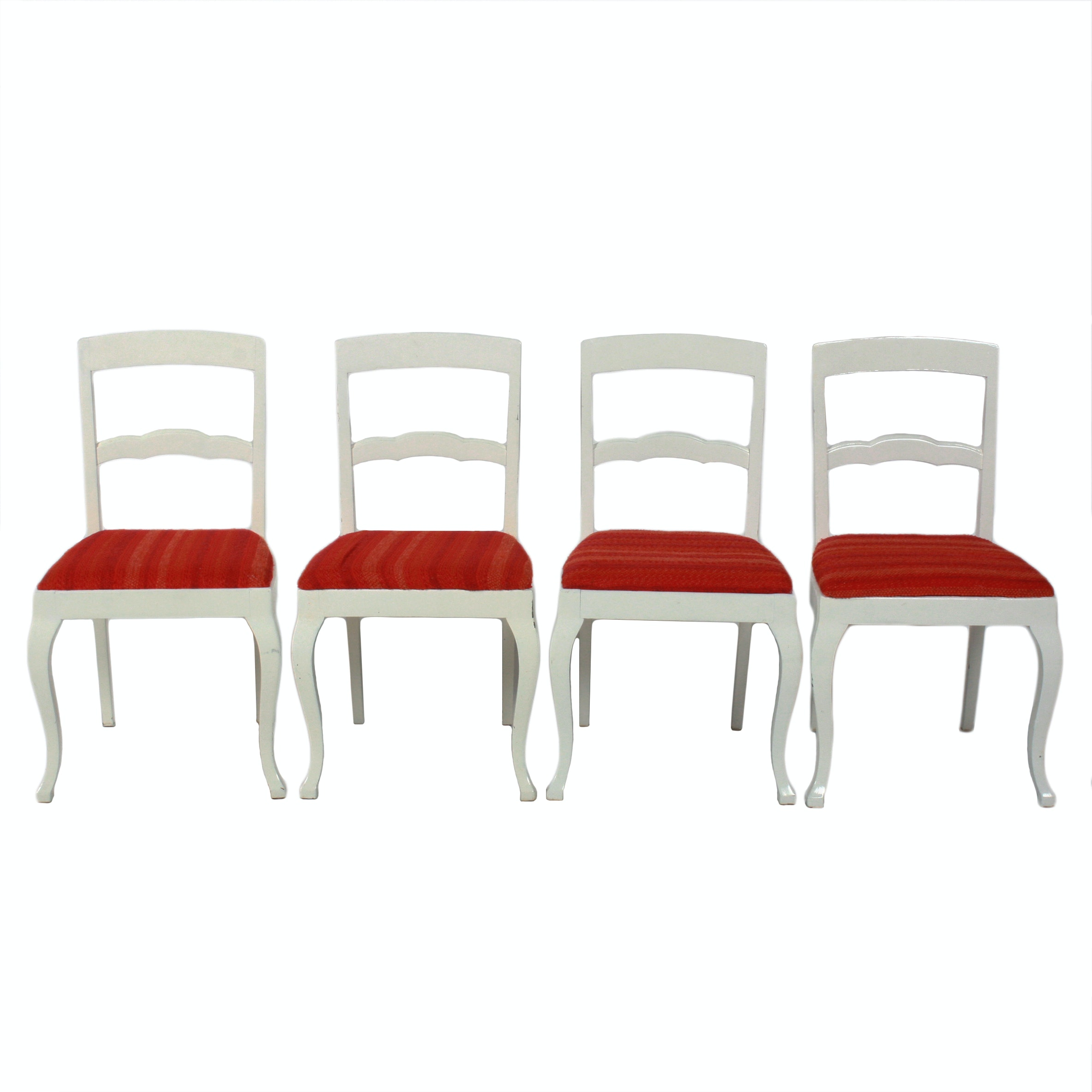Four Painted Swedish Style Dining Chairs