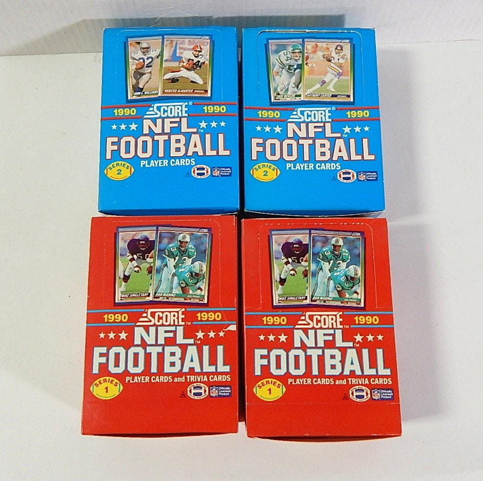 Four Unopened Boxes of 1990 NFL Football Wax Packs