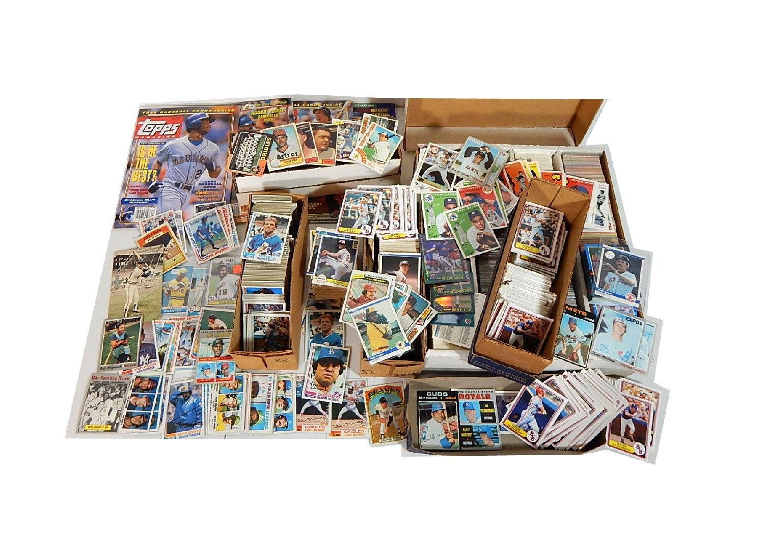 Large Baseball Card Collection - 5000 Card Count