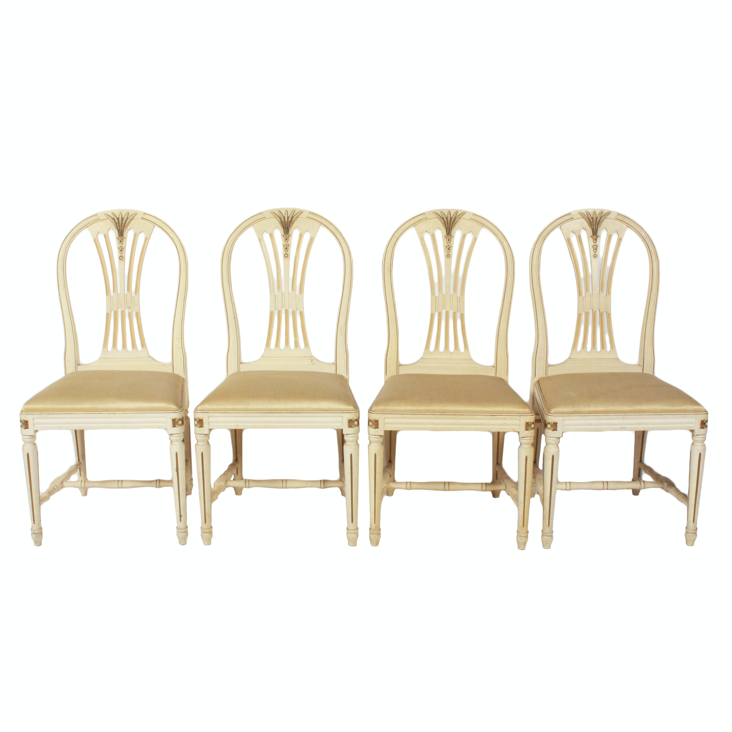 Four Swedish Gustavian Style Side Chairs