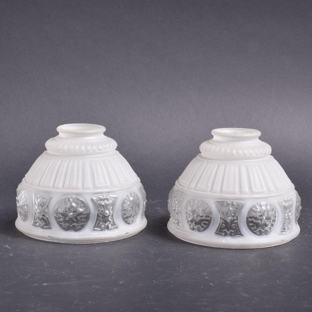 Vintage Embossed Glass Light Shades