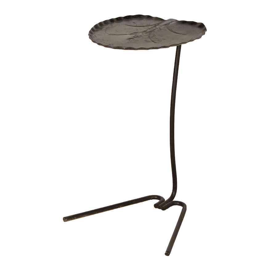 Vintage Salterini Wrought Iron Lily Pad Accent Table