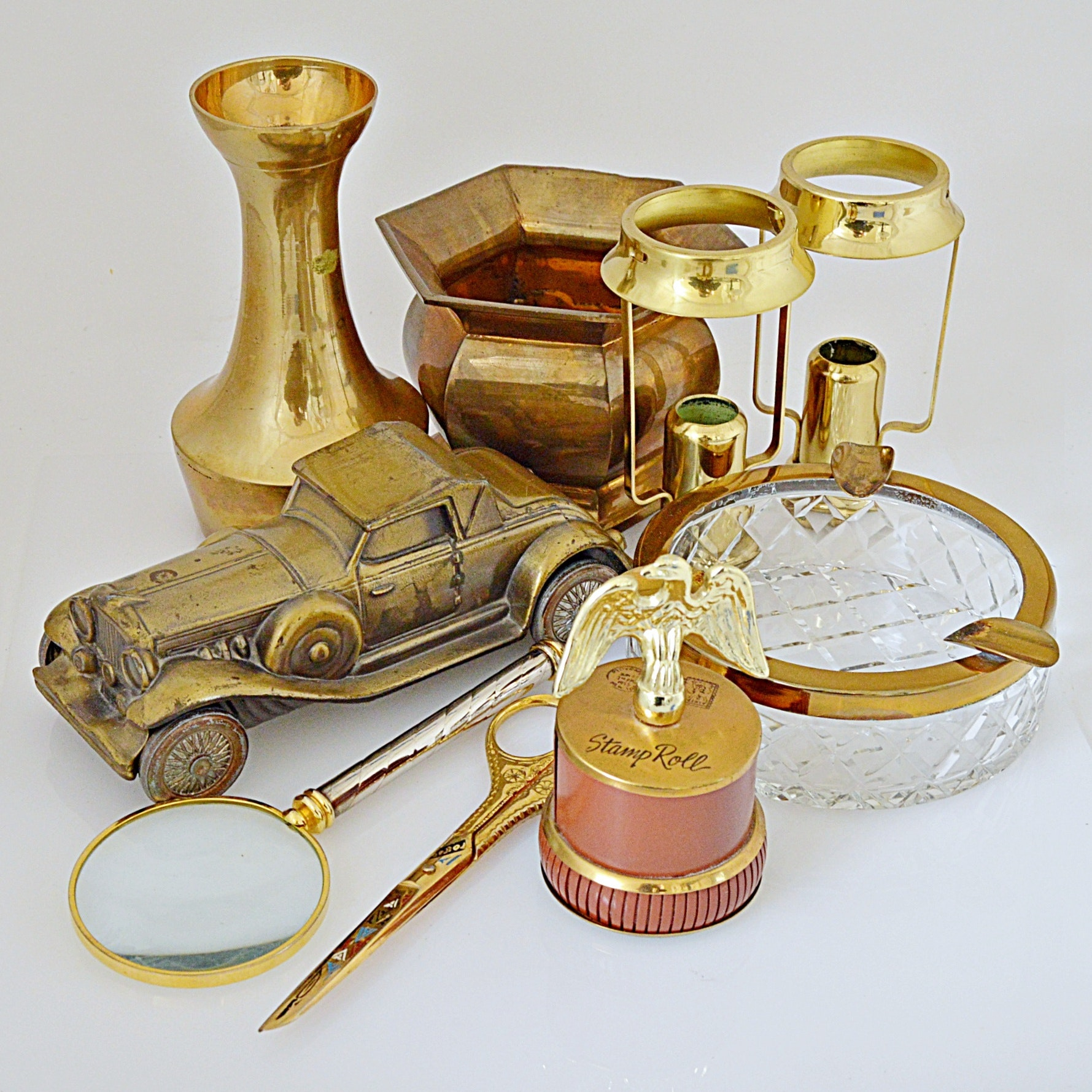 Vintage Brass Collectibles, Office and Decor