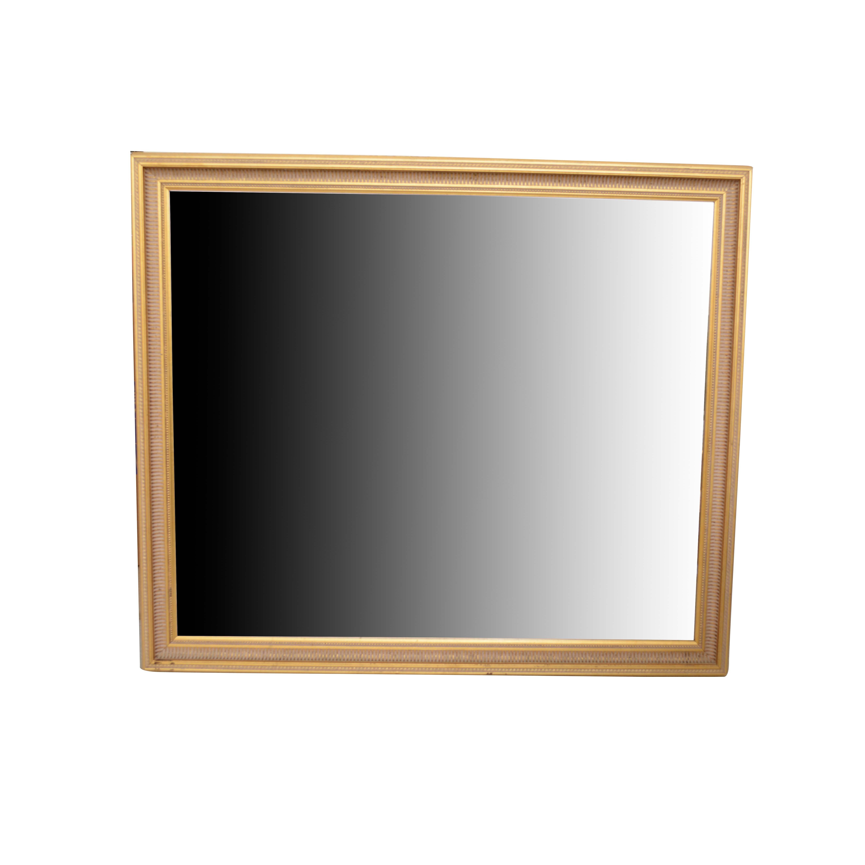 Vintage Wood Framed Gold Leaf Wall Mirror