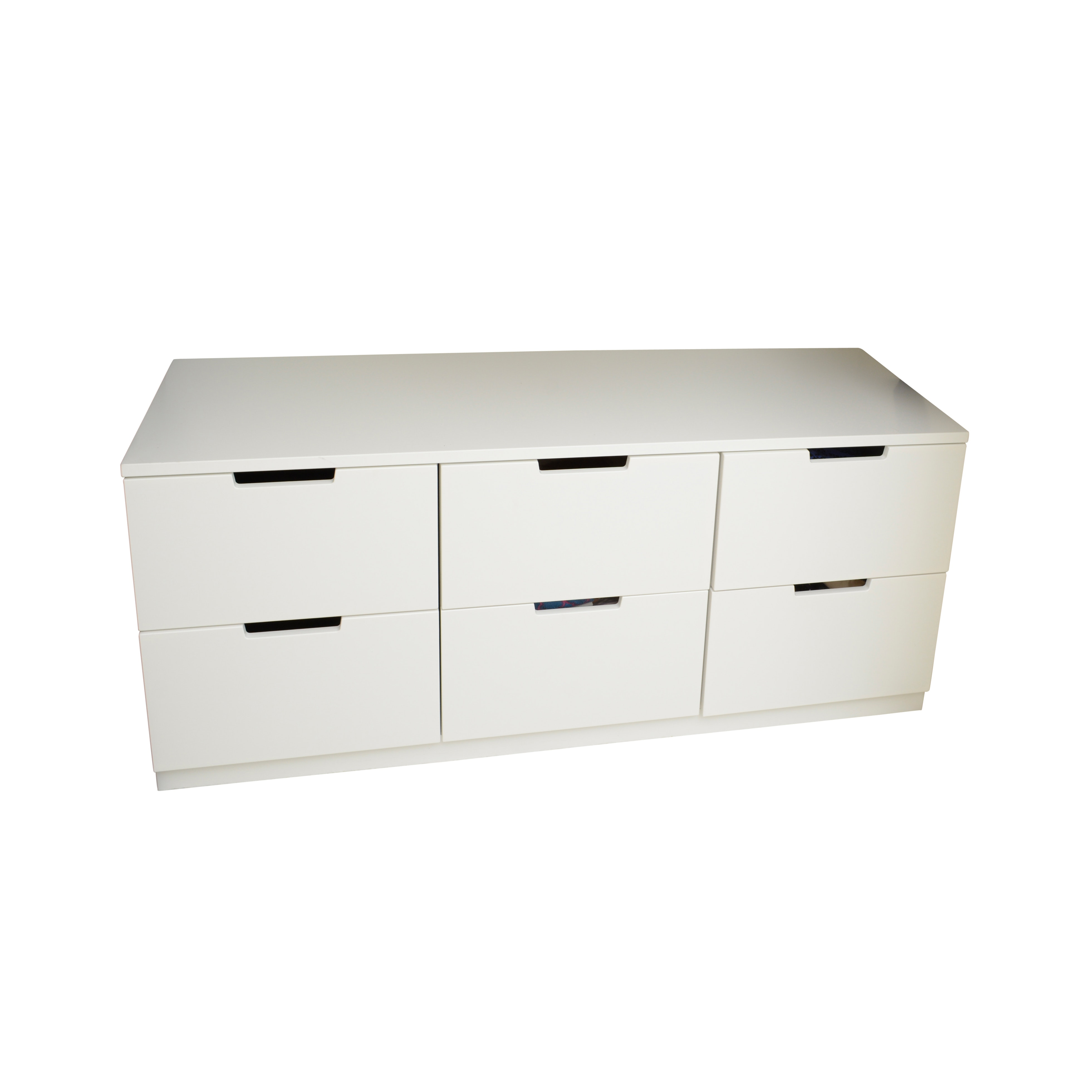 White Lateral Chest of Drawers
