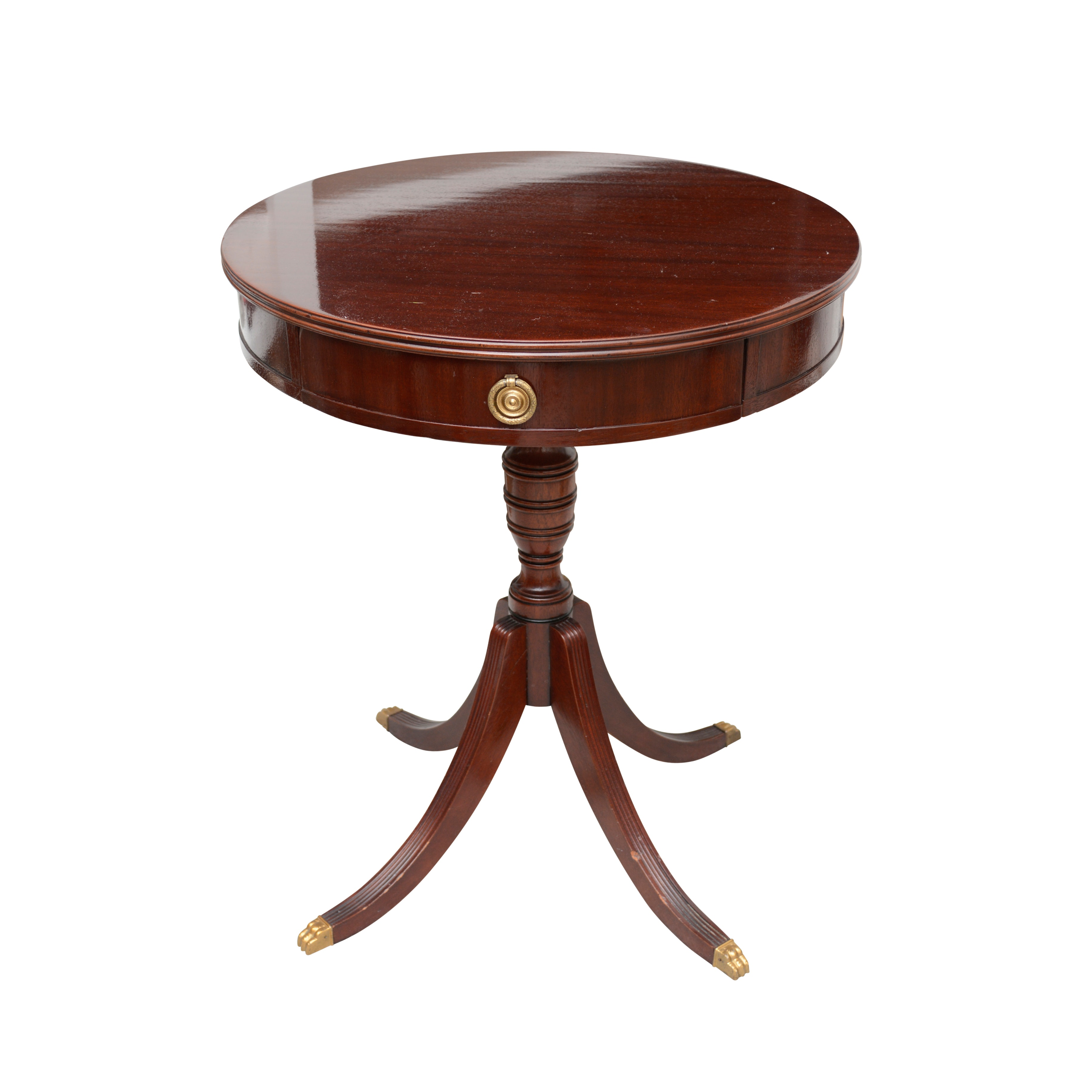Federal Style Mahogany Drum Table