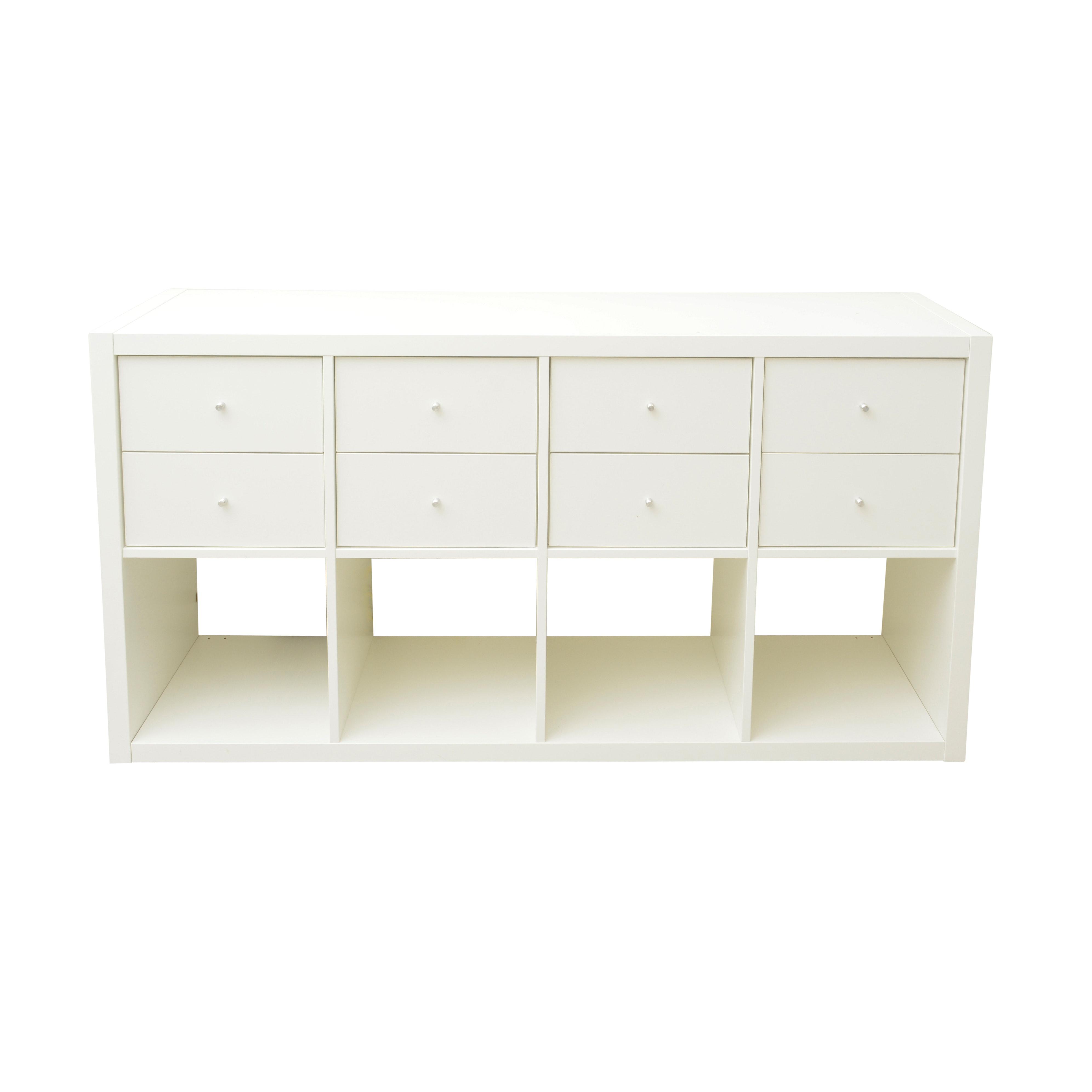 Contemporary White Storage Cabinet