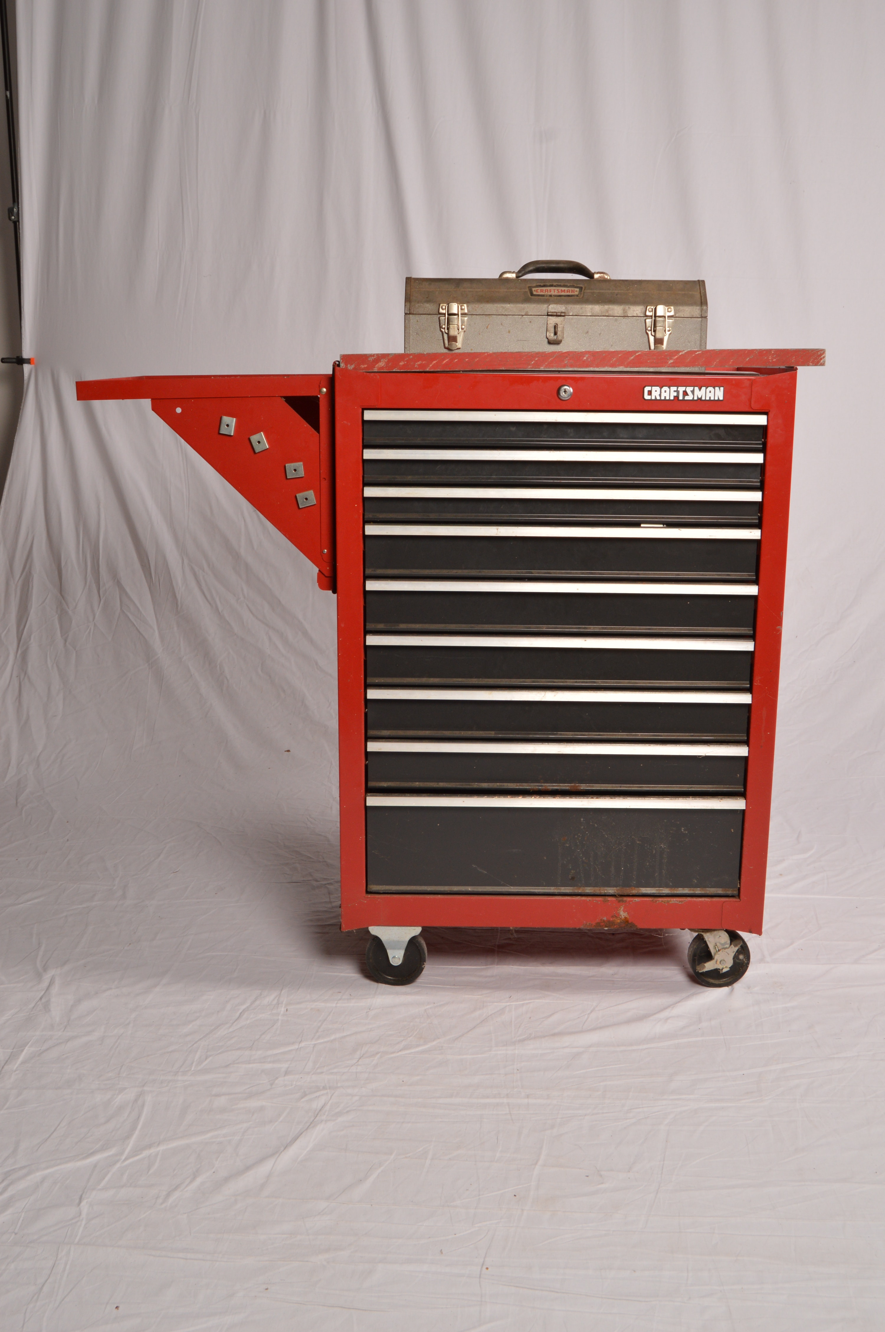 Craftsman Rolling Tool Chest, Handled Tool Box, and Tools