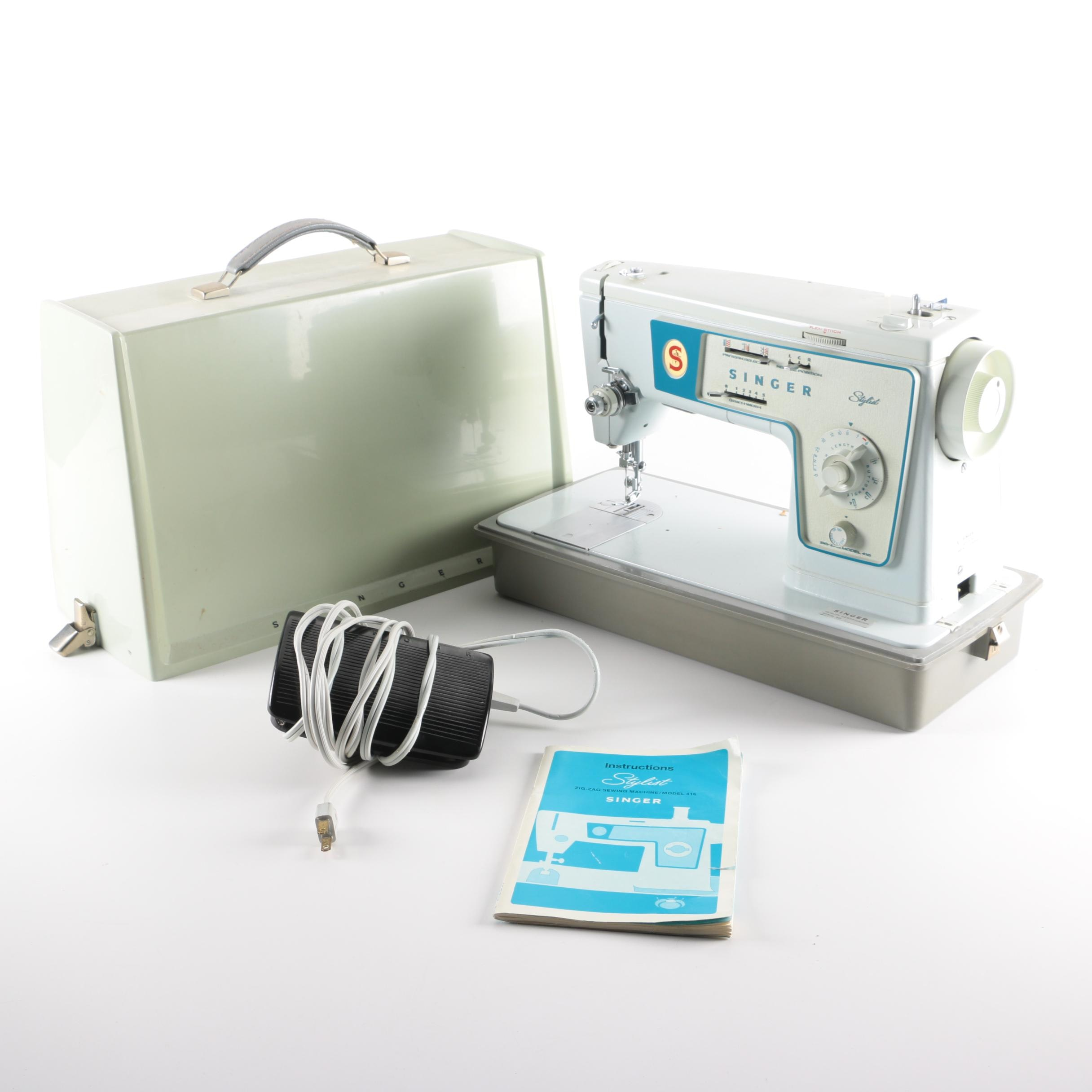 "Vintage Singer ""Stylist"" Sewing Machine with Case"