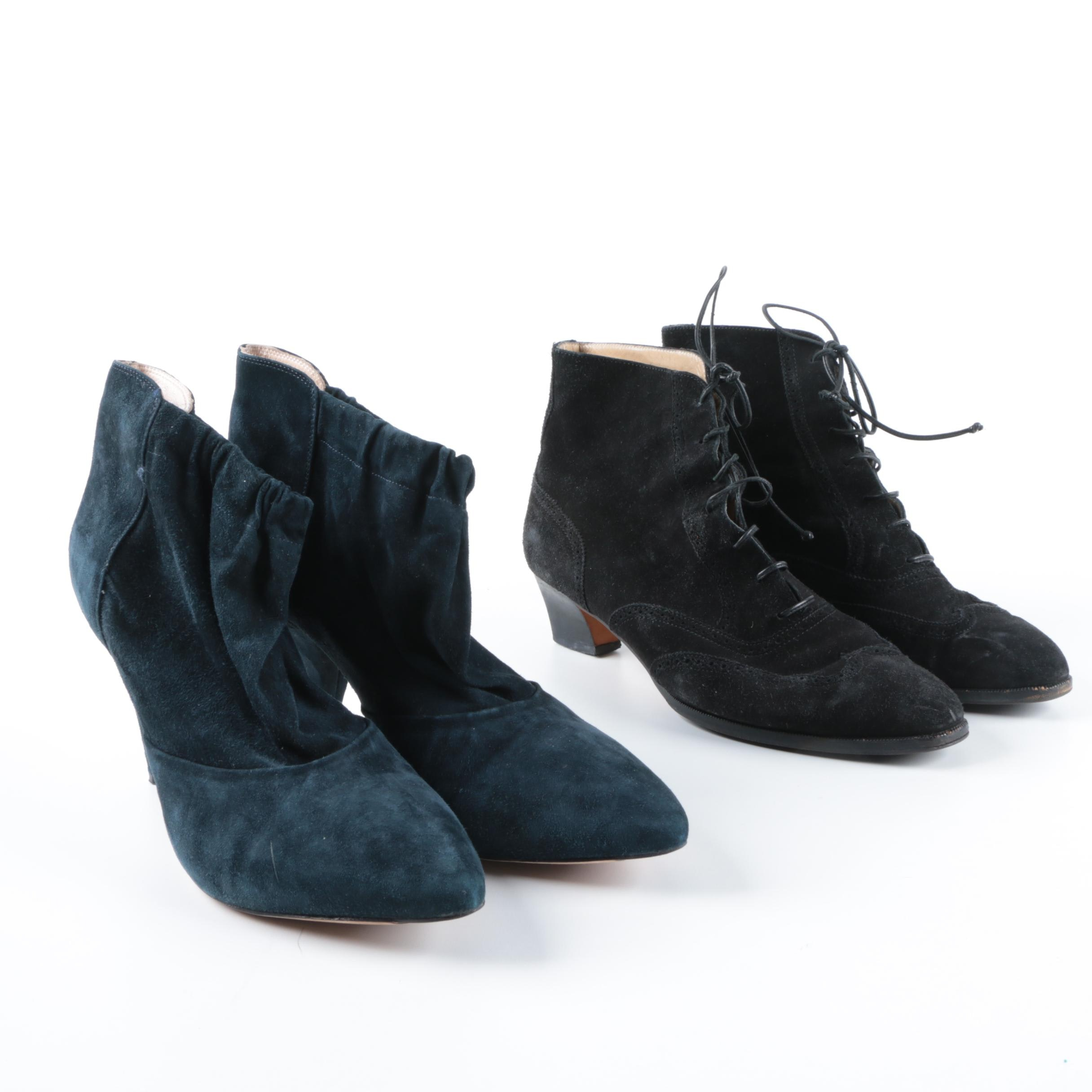 Suede Ankle Booties Including Salvatore Ferragamo and Loeffler Randall