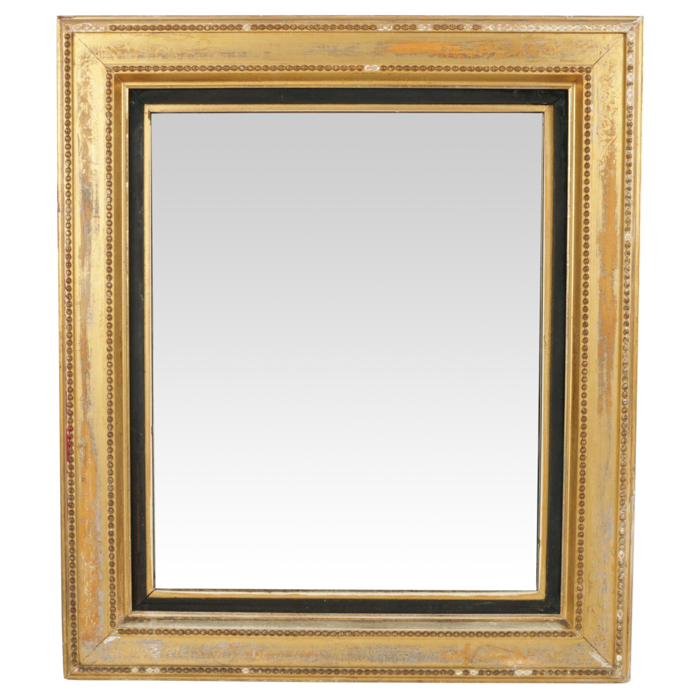 Large Mirror In Gold Tone Wood Frame