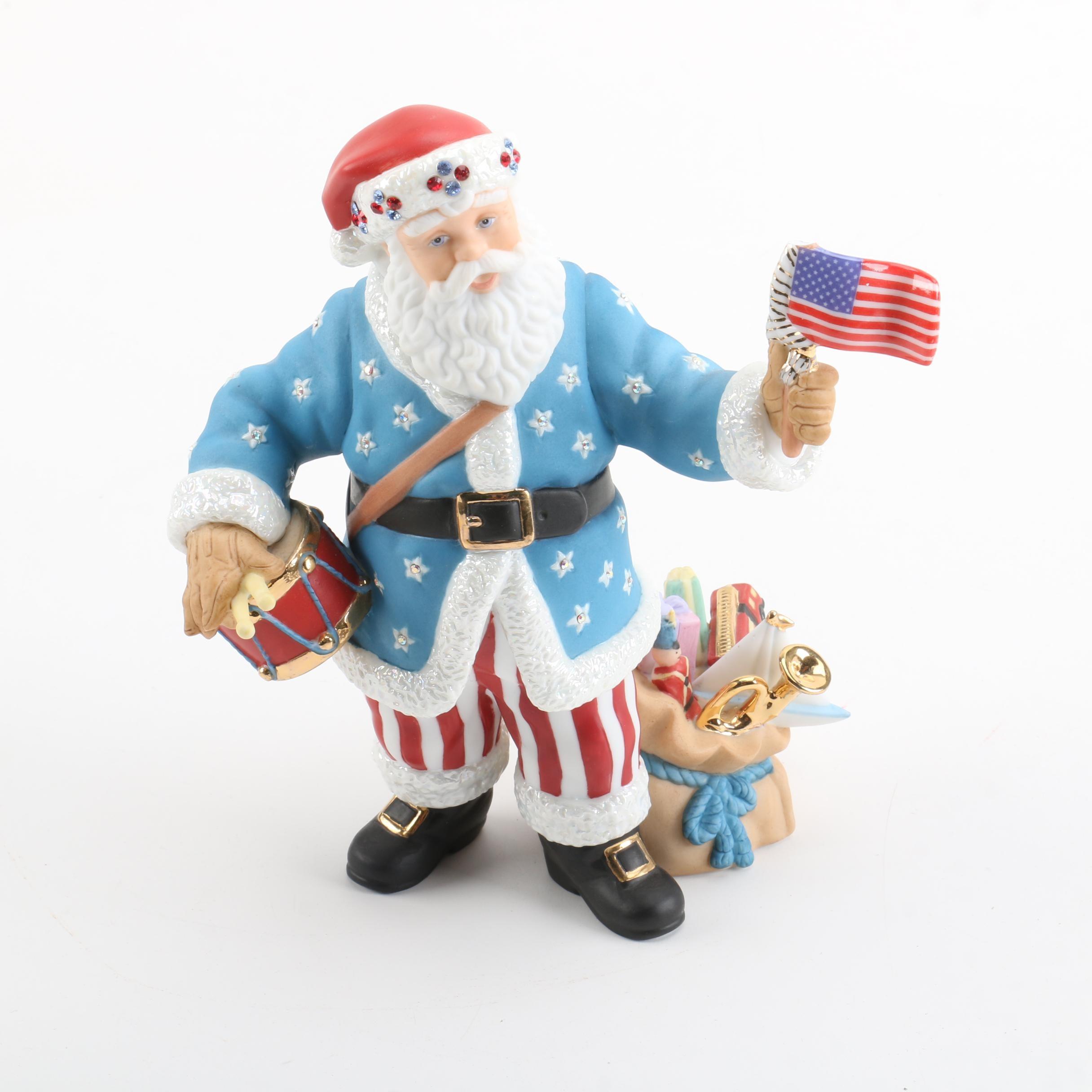 "Lenox ""Santa's American Spirit"" Porcelain Figurine"
