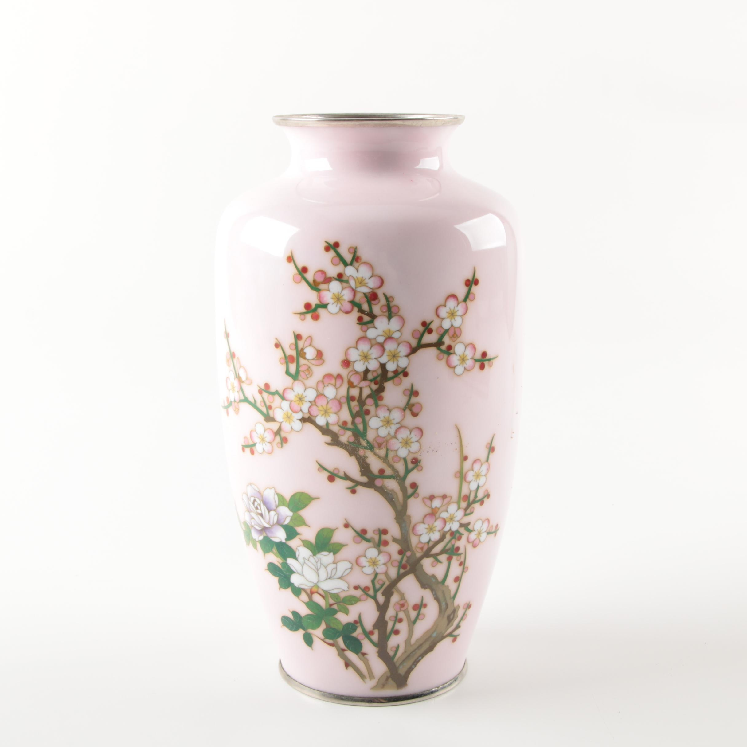 Japanese Sato Cloisonne Vase