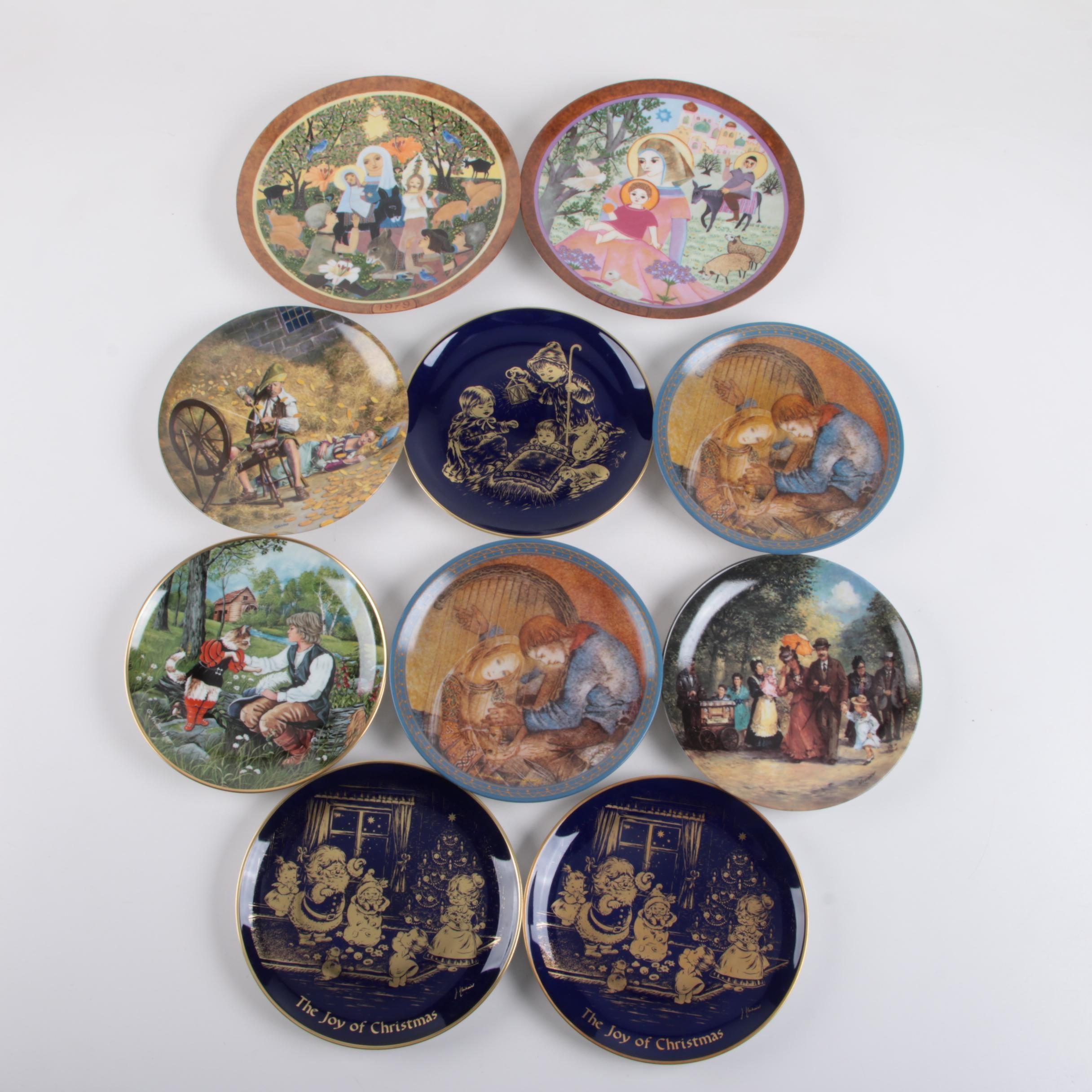 Vintage German Themed Porcelain Collector Plates