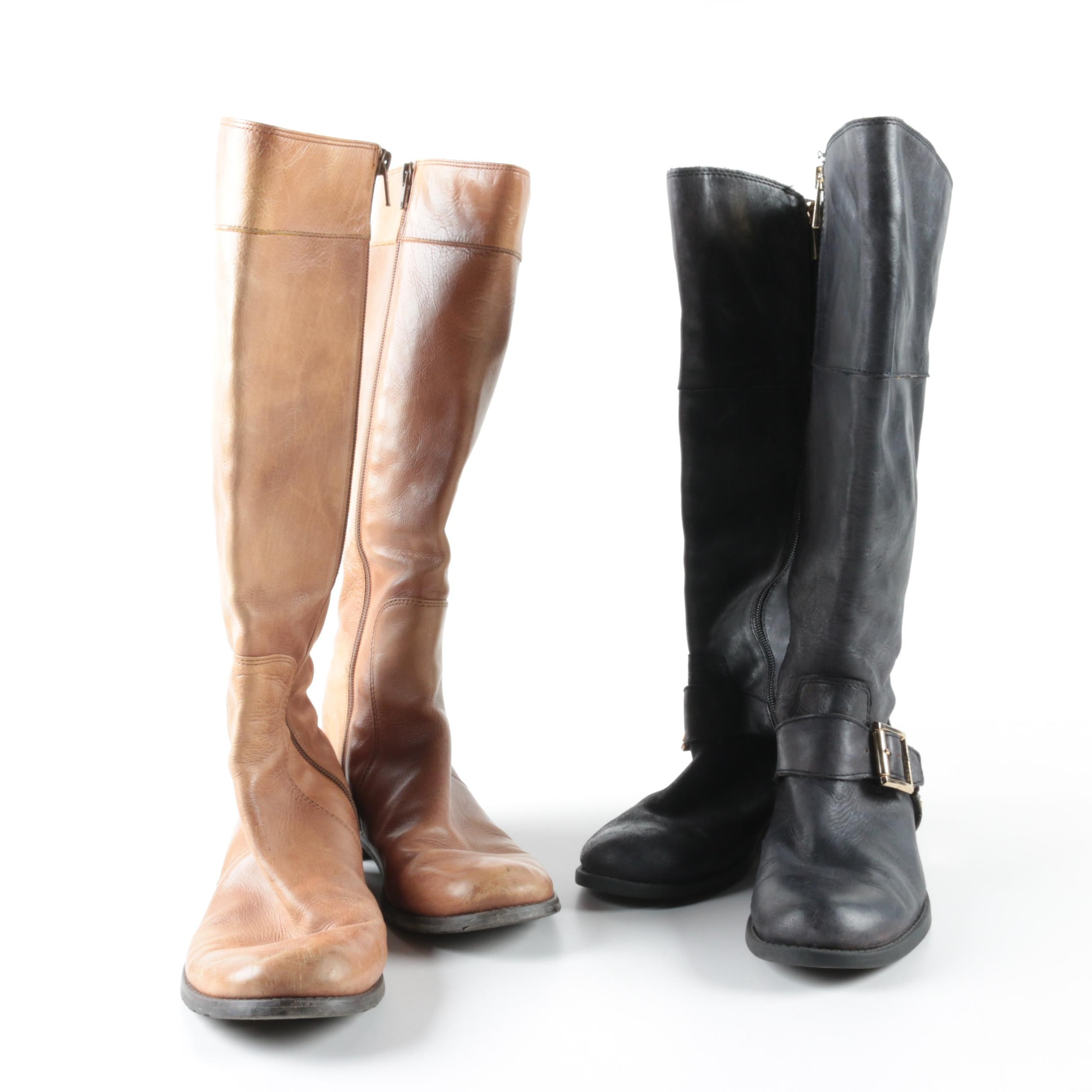 Stuart Weitzman and Vince Camuto Leather Boots