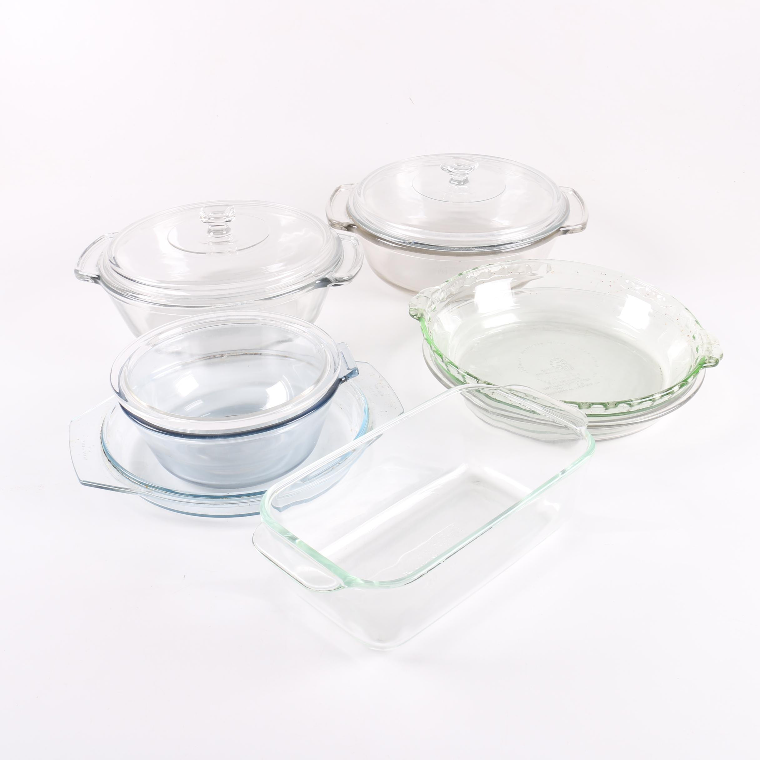 Glass Bakeware Including Pyrex