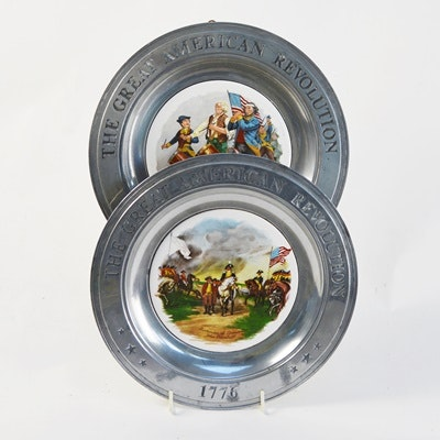 Two The Great American Revolution Plates