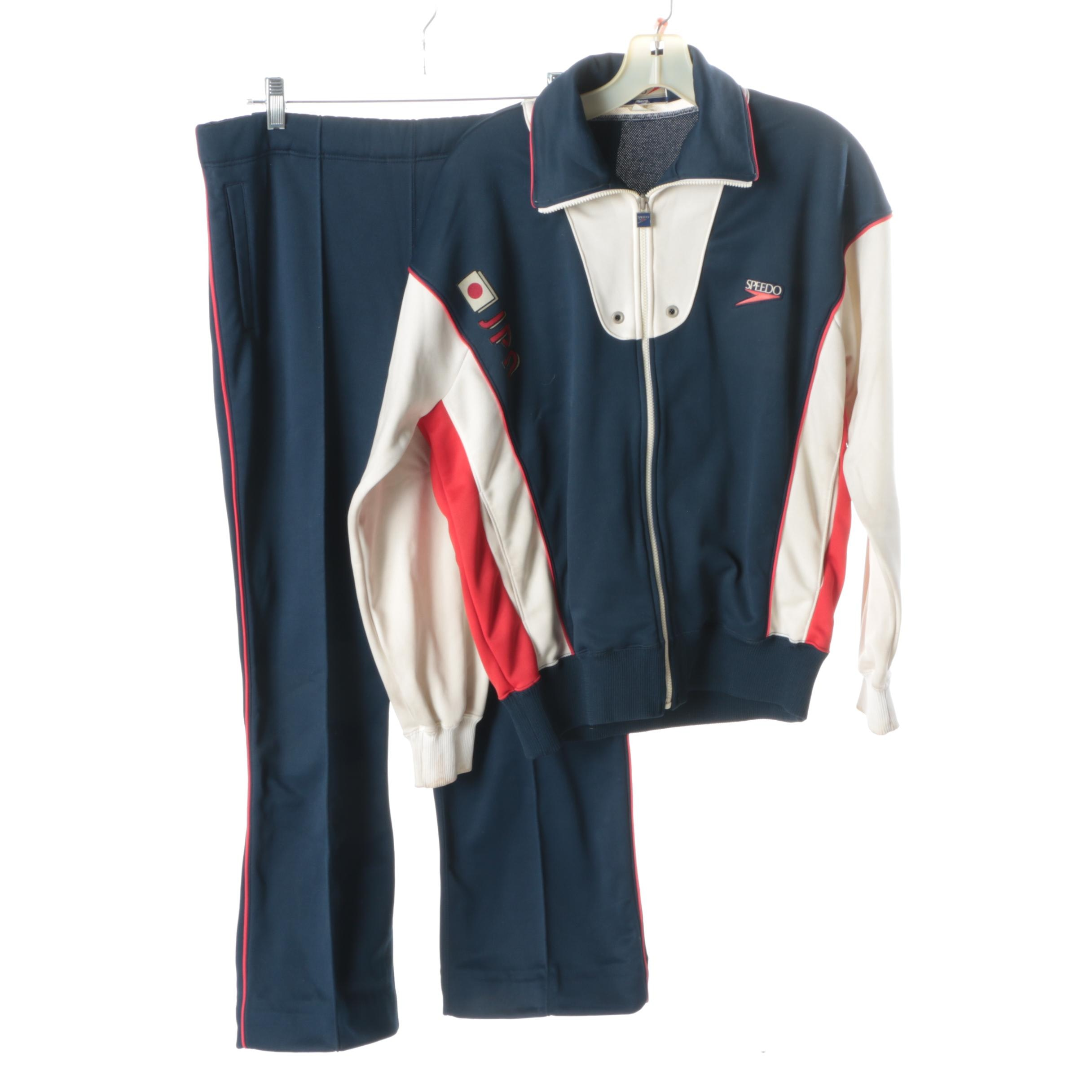 Vintage Japanese Swimming Speedo Warm-Up Suit