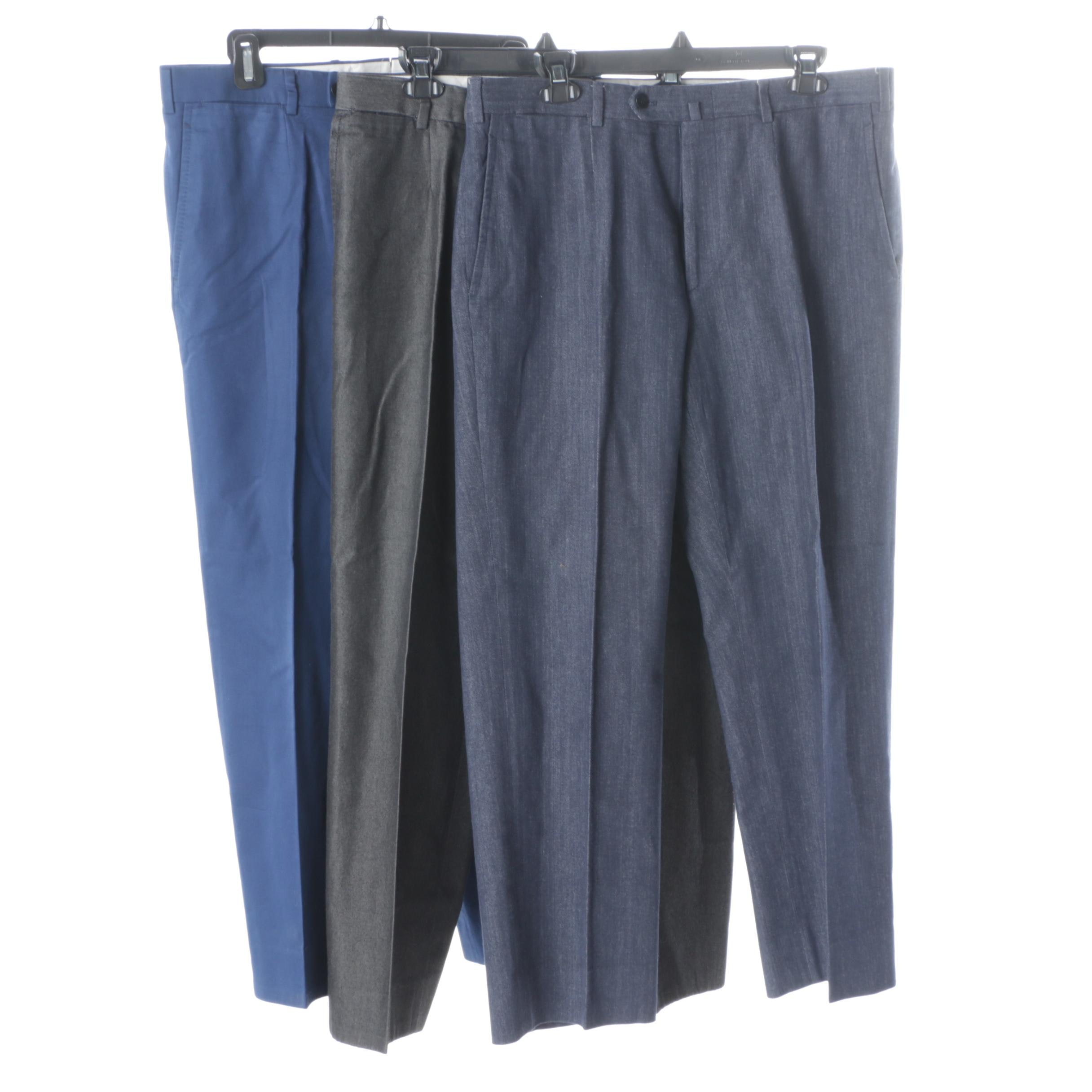 Men's Isaia Wool Trousers
