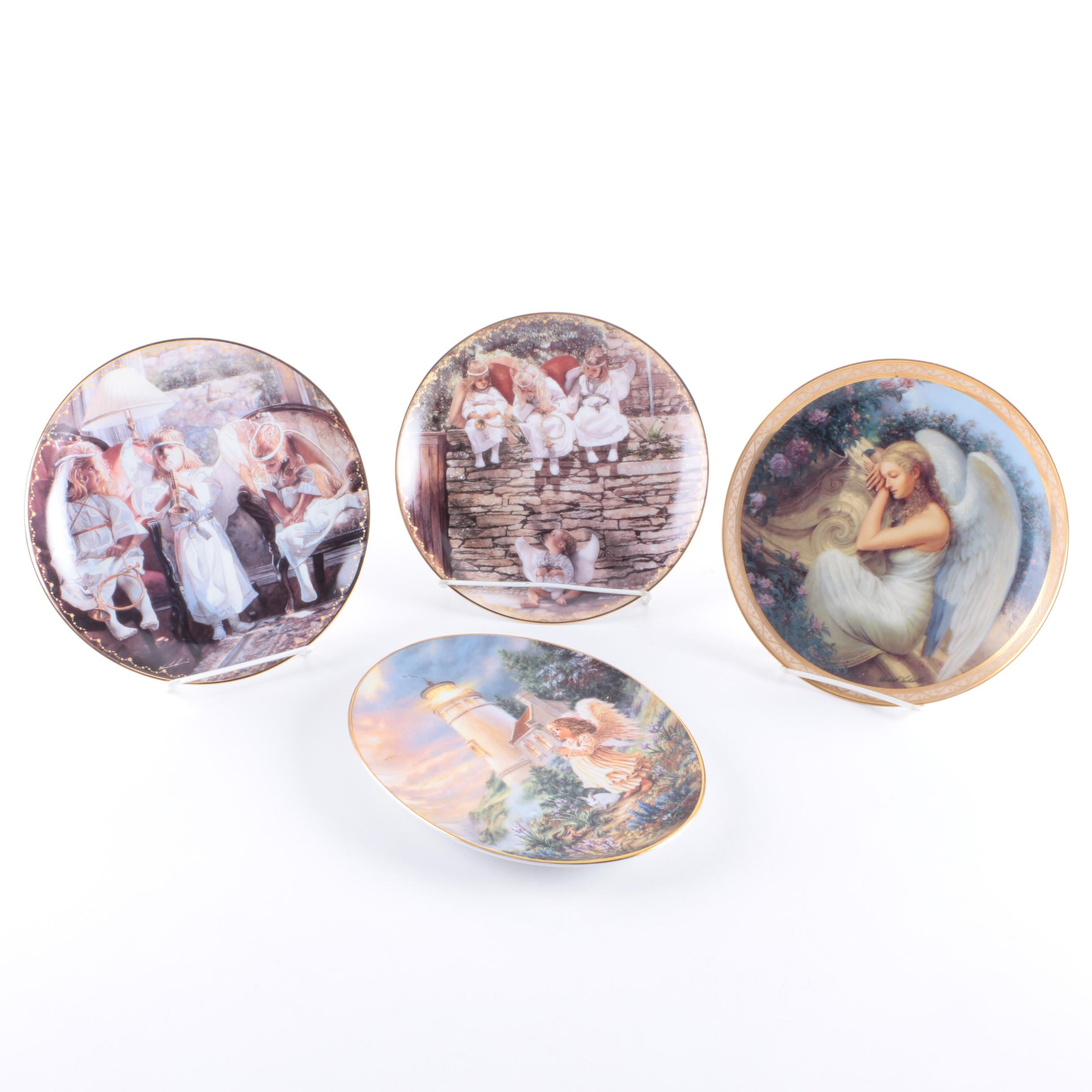 Selection of Angel Themed Decorative Plates