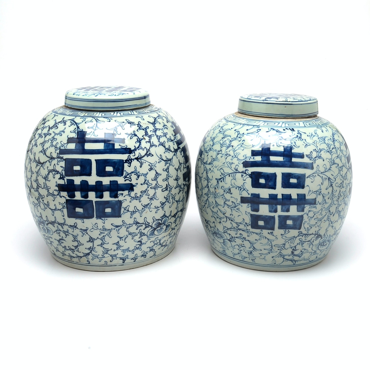 Pair of Chinese Ginger Jars