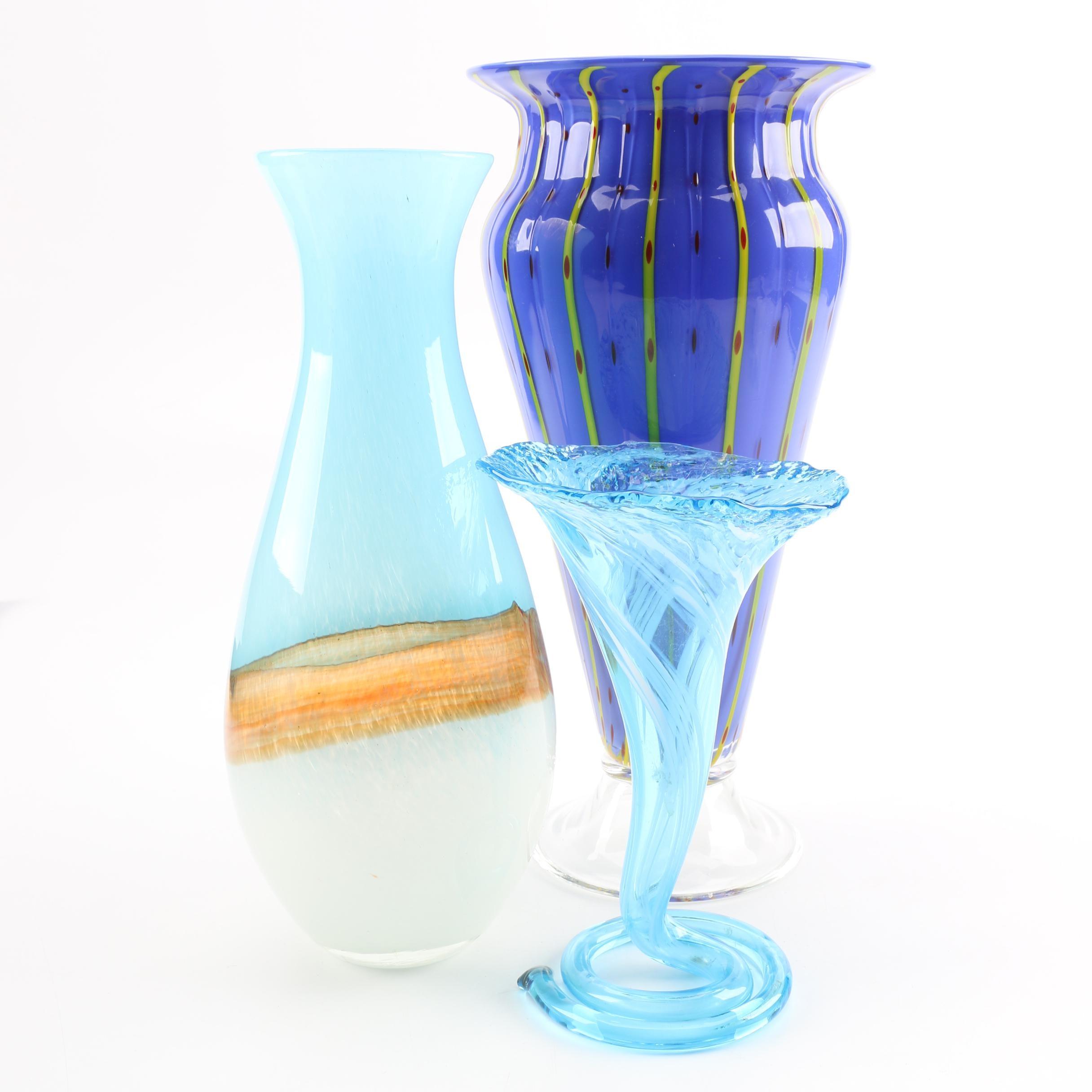 Group of Art Glass Vases