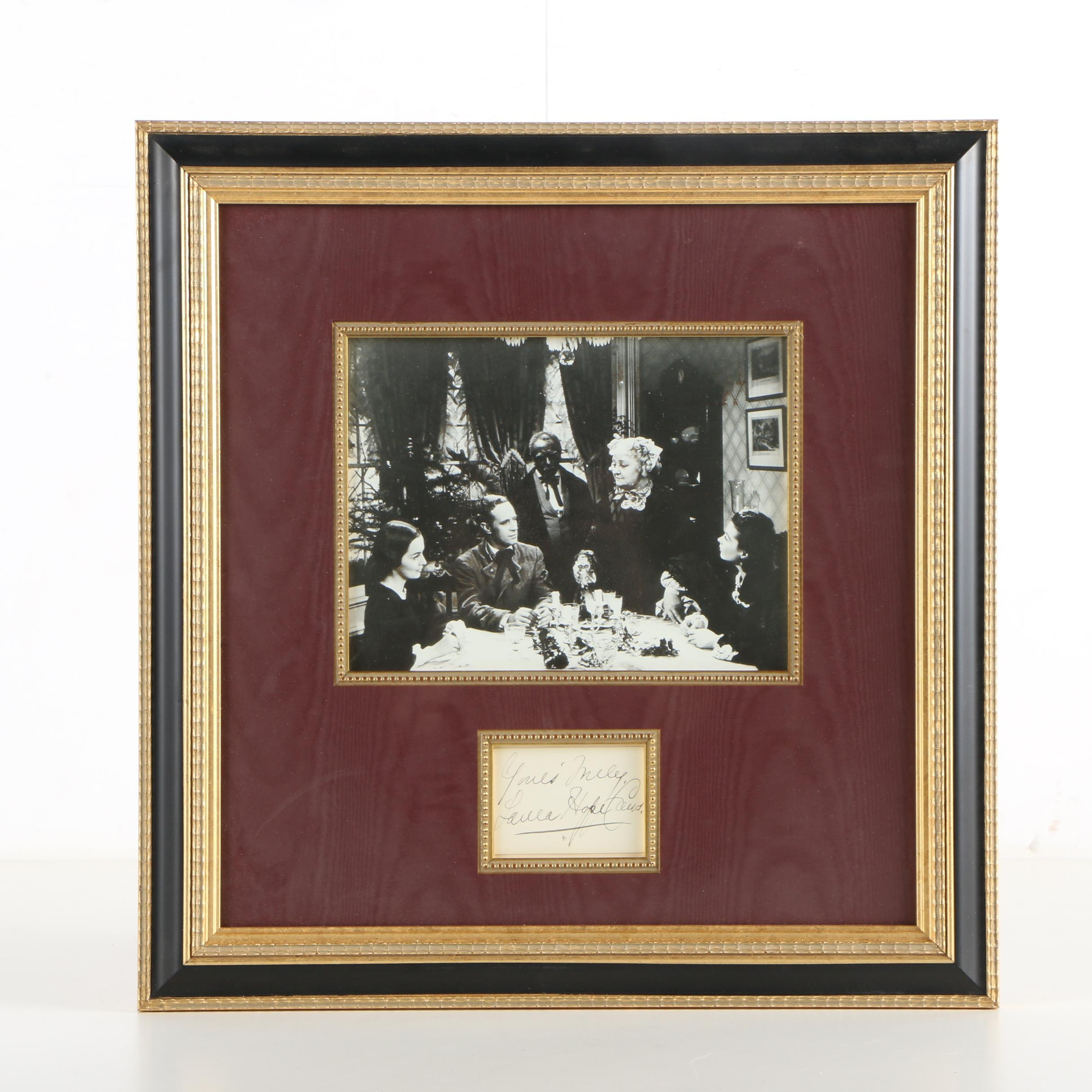 "Laura Hope Crews Autographed ""Gone With the Find"" Gelatin-Silver Photograph"