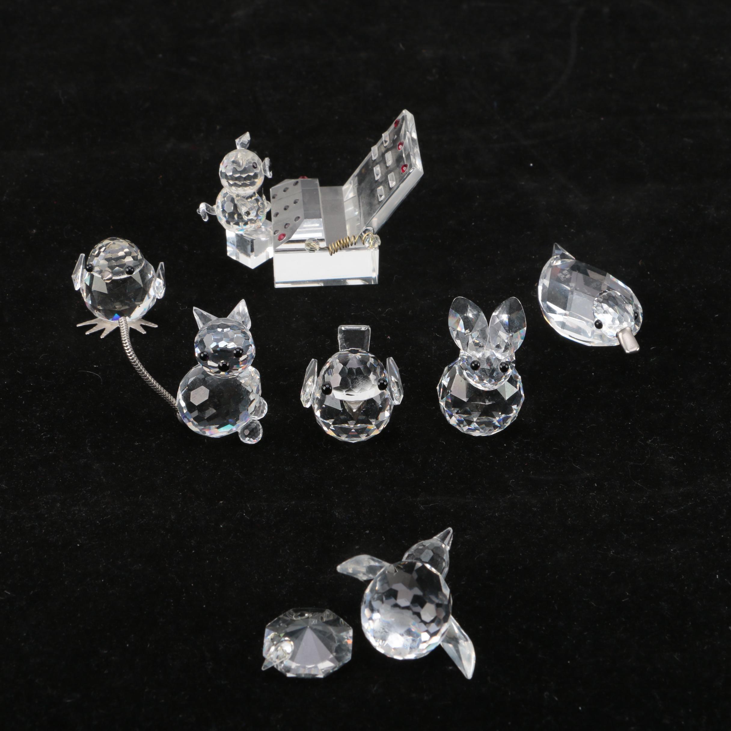 Vintage Swarovski Crystal Animal Figurines