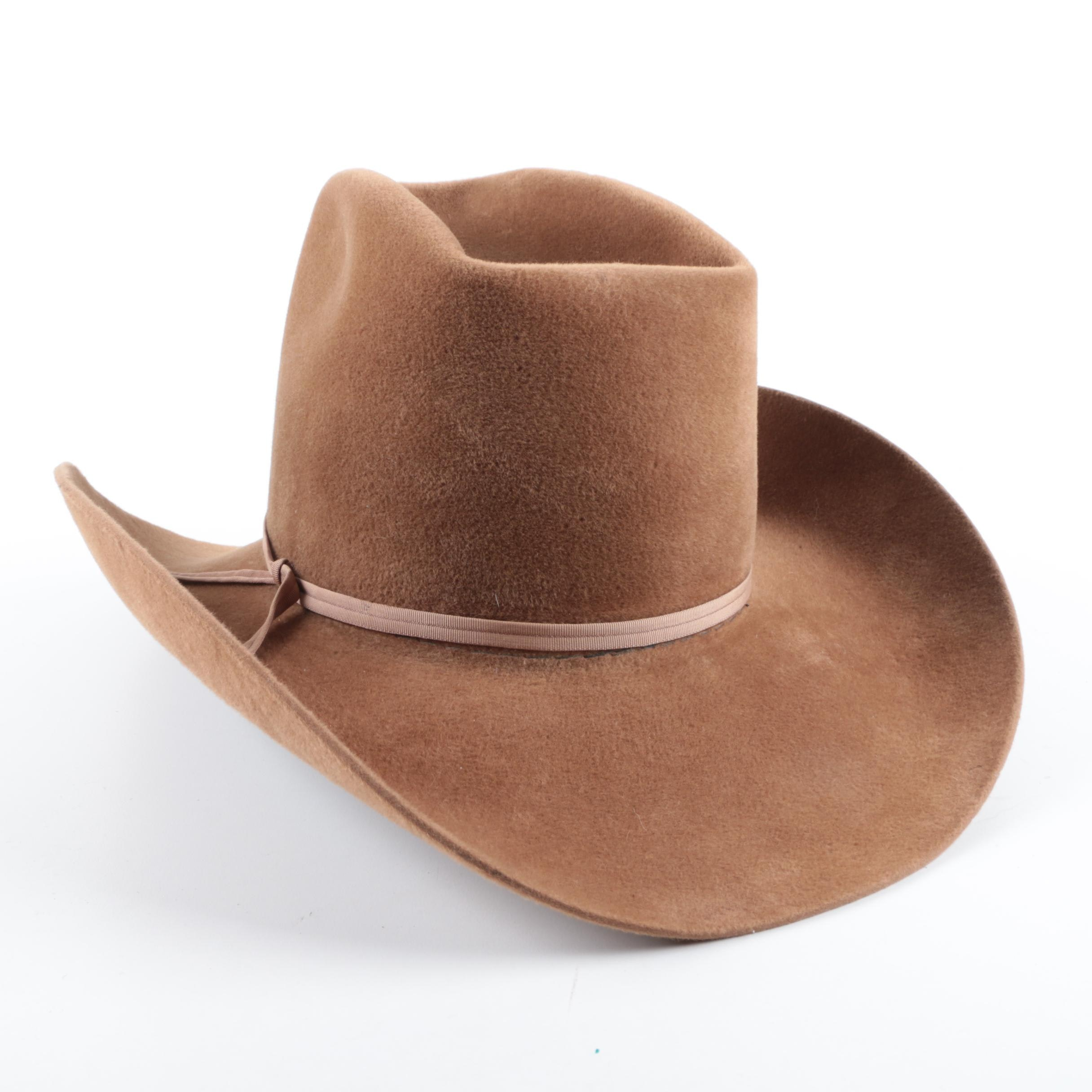 "Resistol ""Self-Conforming"" Western Felted Beaver Hat"