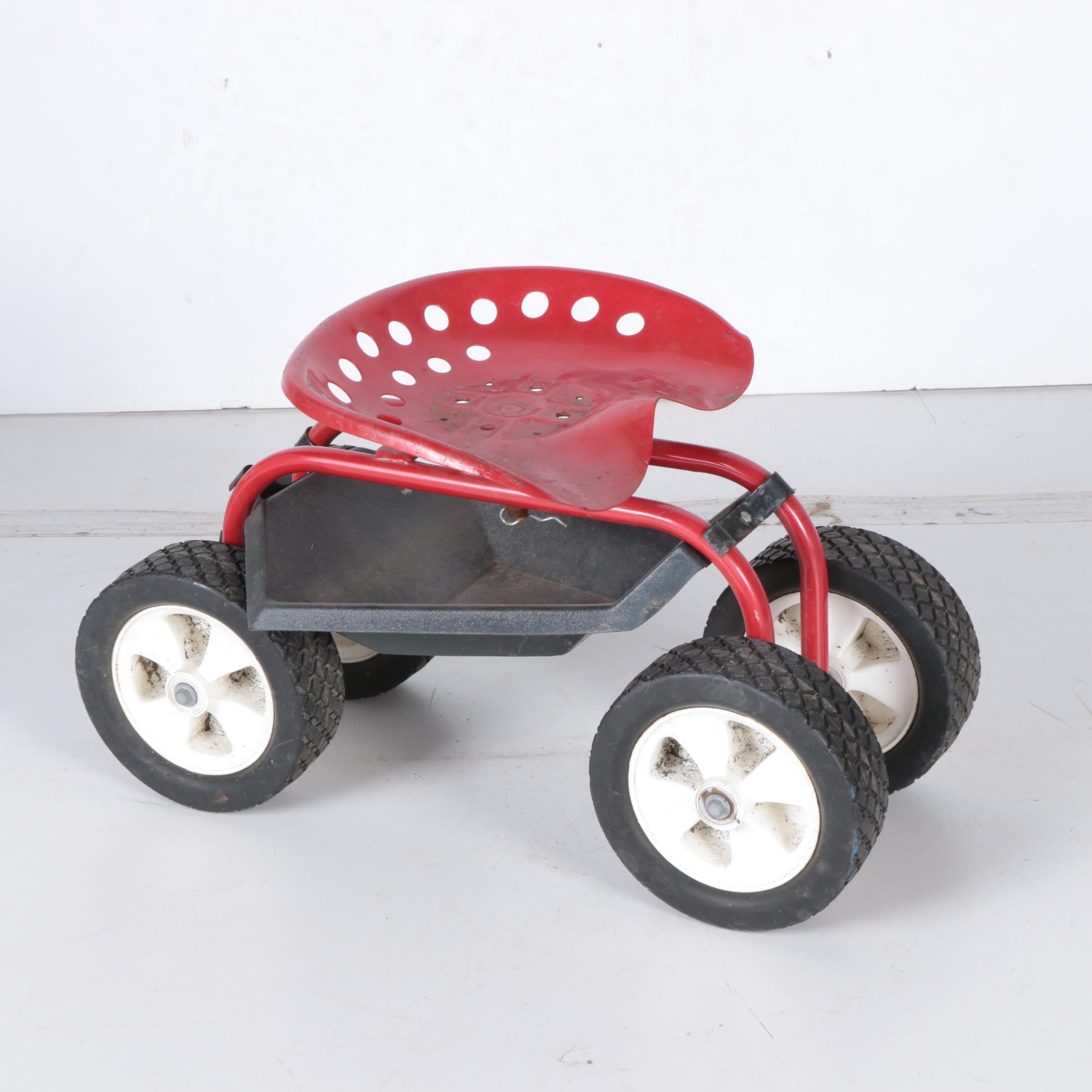 Merveilleux Vintage Tractor Seat Garden Scoot ...